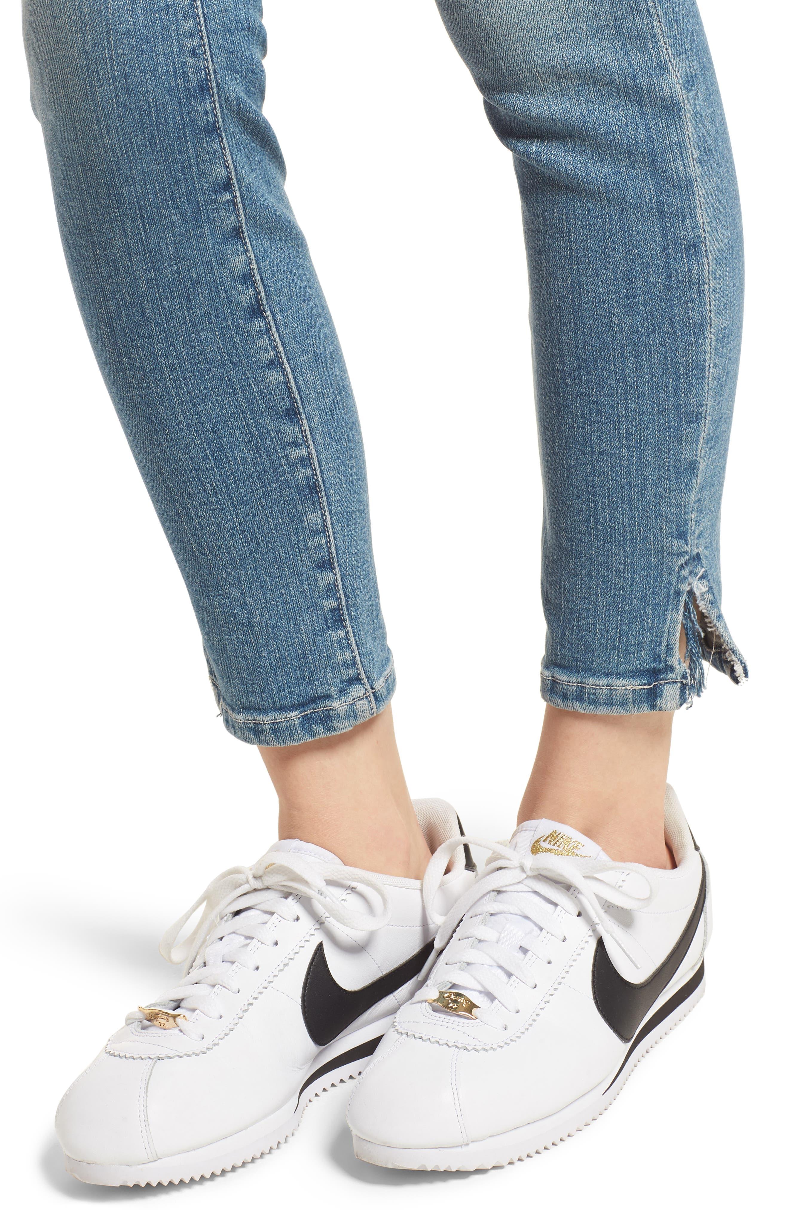 The Stiletto Vent Hem Skinny Jeans,                             Alternate thumbnail 4, color,                             474