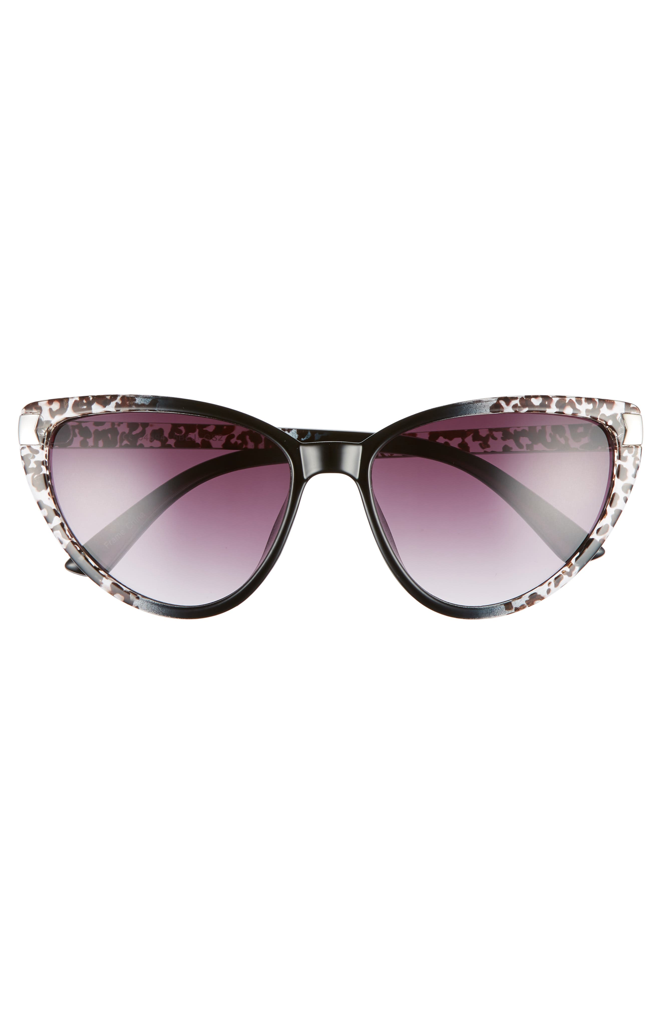 GLANCE EYEWEAR,                             57mm Spotted Cat Eye Sunglasses,                             Alternate thumbnail 3, color,                             001