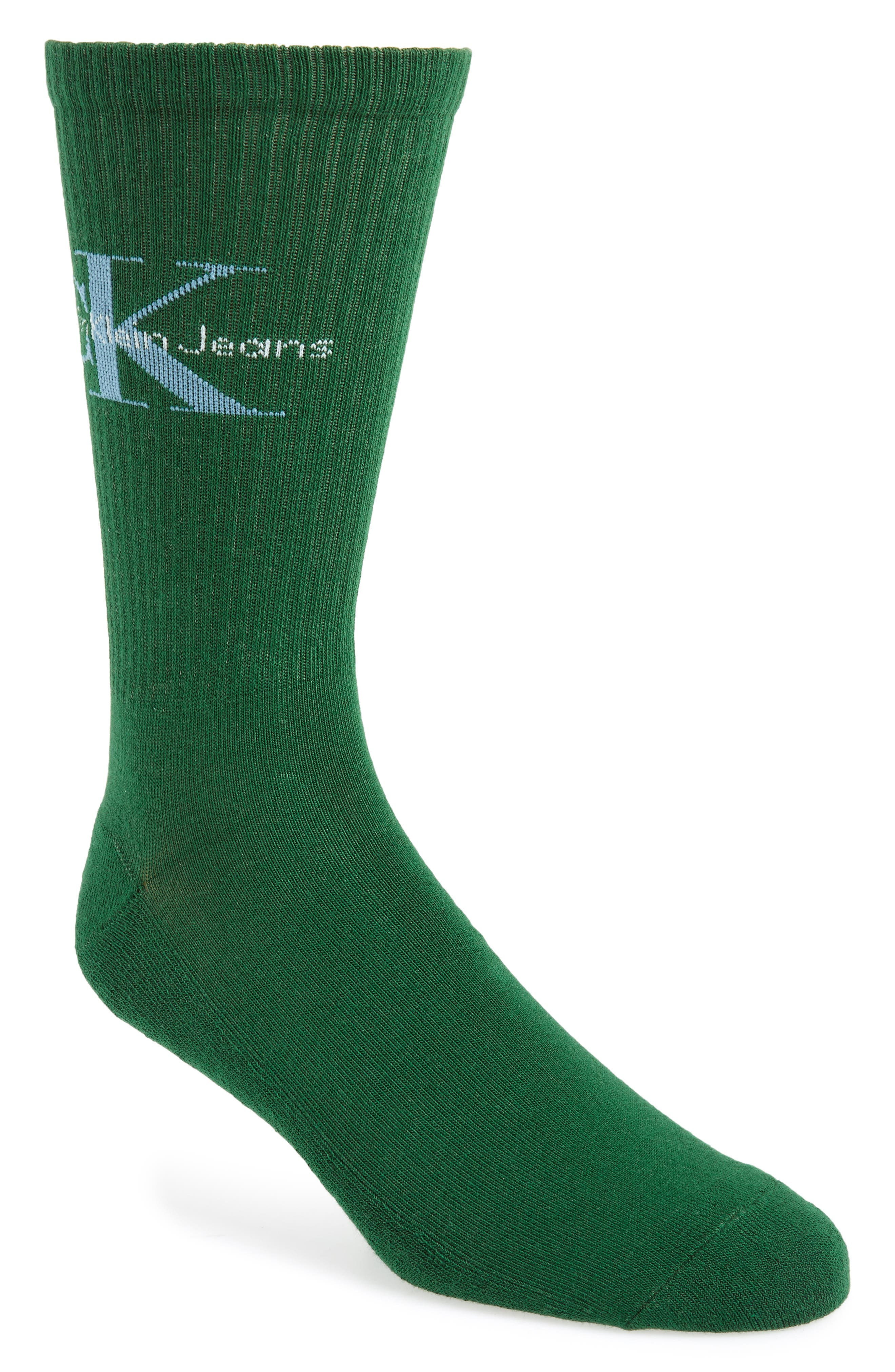 Logo Socks,                         Main,                         color, GREEN