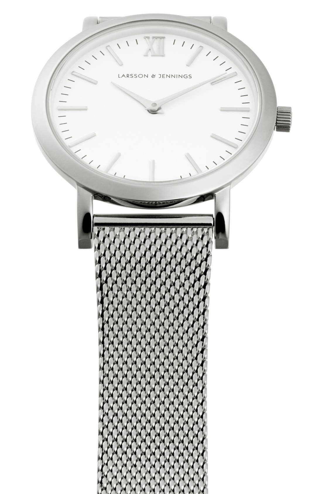 'Lugano' Mesh Strap Watch, 33mm,                             Alternate thumbnail 5, color,                             040