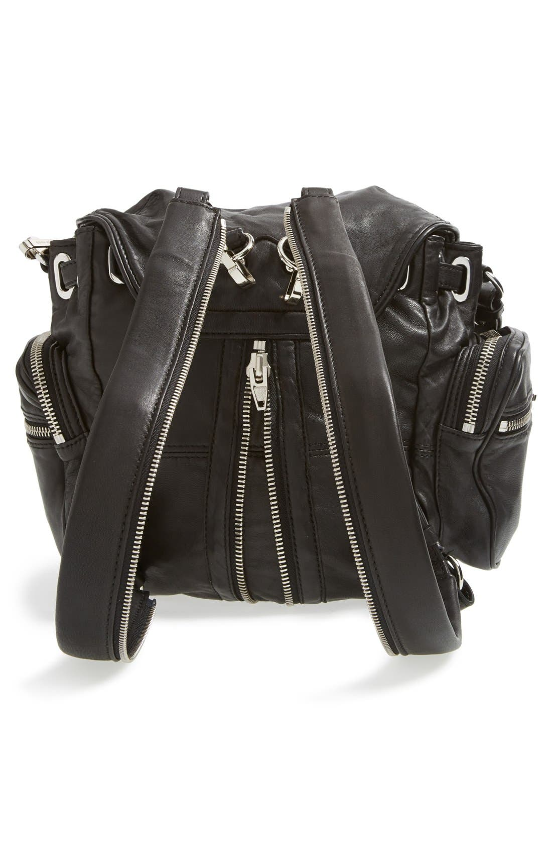 'Mini Marti' Leather Backpack,                             Alternate thumbnail 4, color,                             001