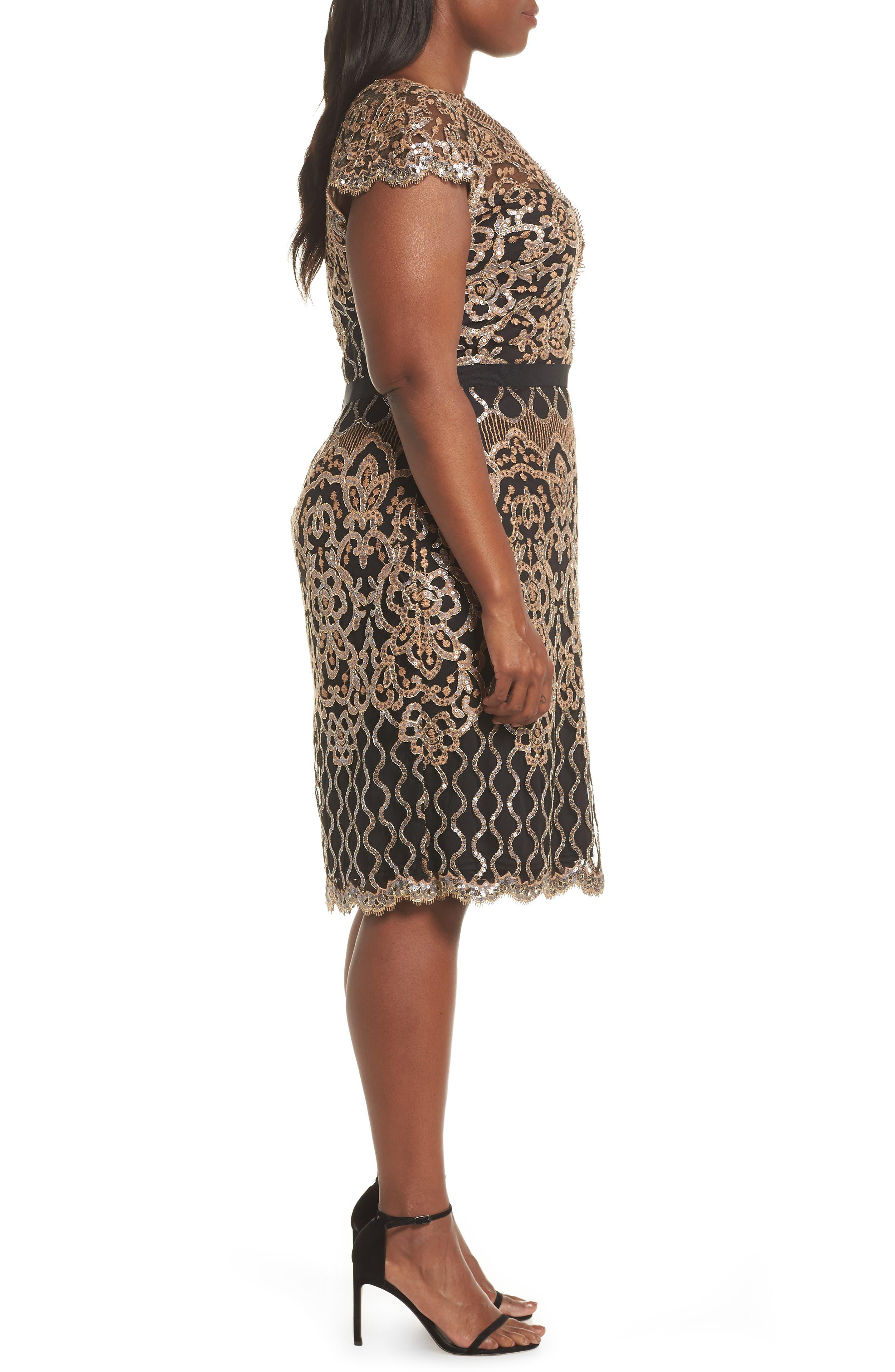 Sequin Embellished Dress,                             Alternate thumbnail 10, color,                             COPPER SHADOW/ BLACK