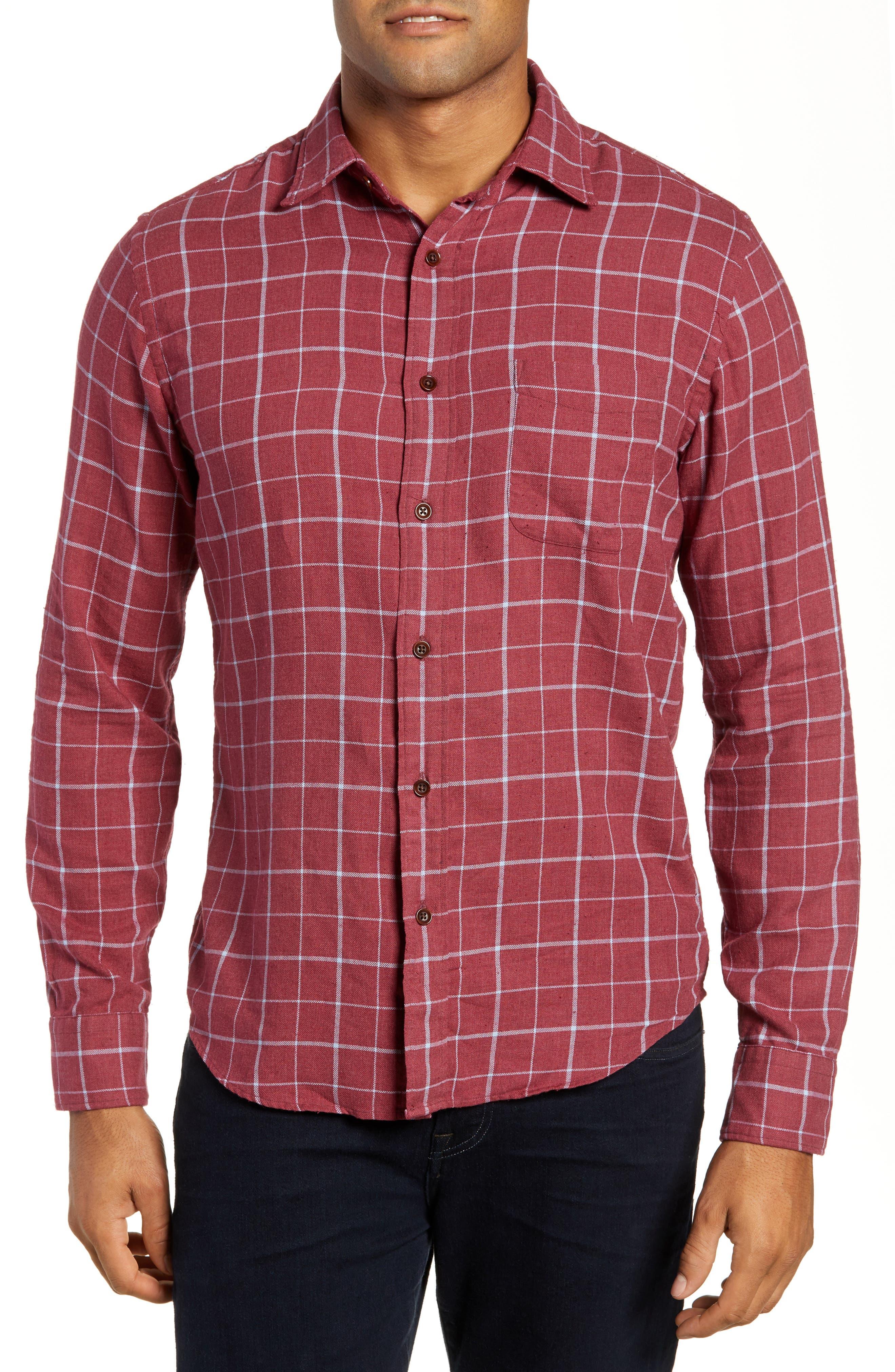 Ventura Windowpane Sport Shirt, Main, color, 603