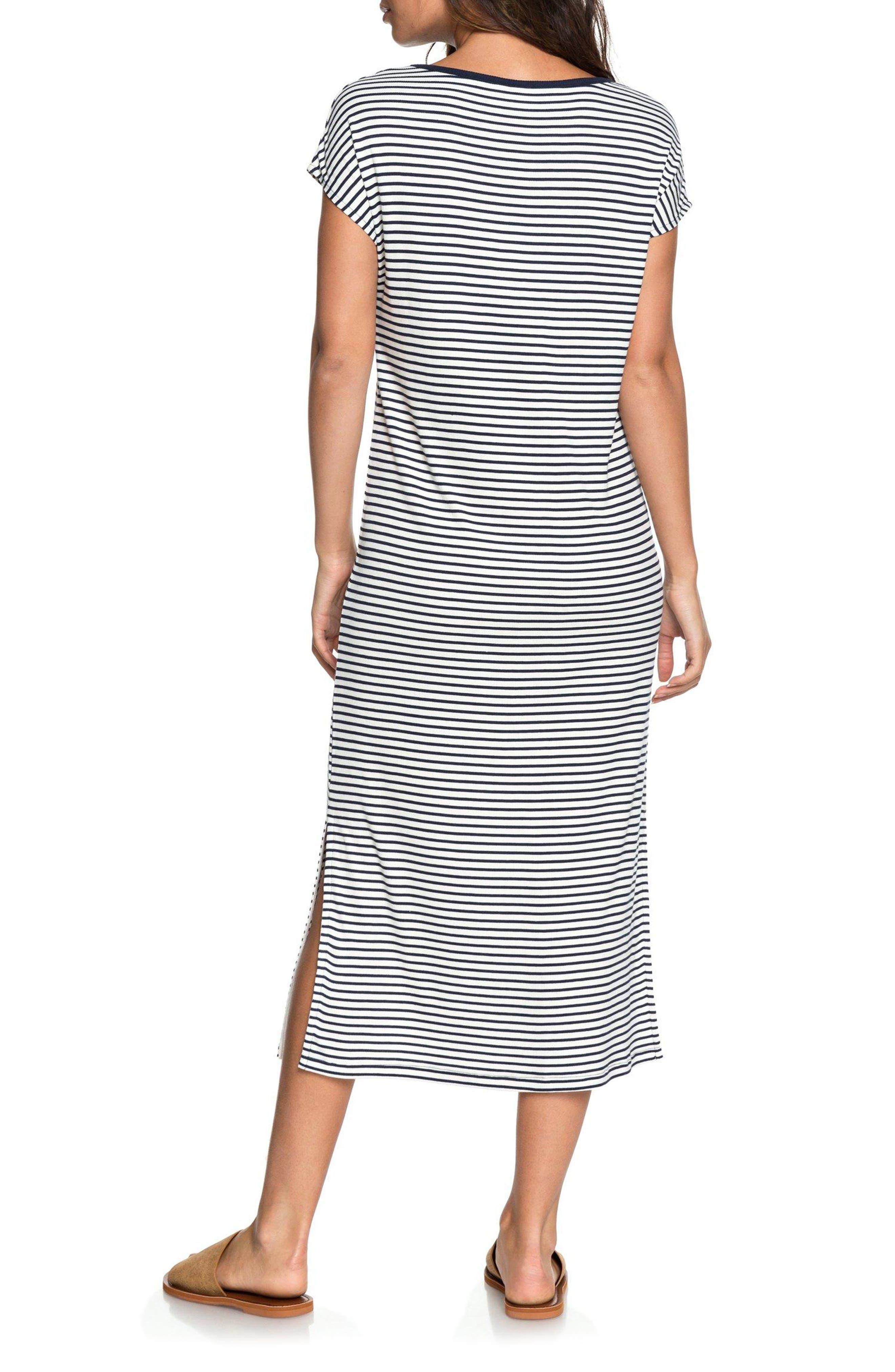 Make It New Stripe Midi Dress,                             Alternate thumbnail 2, color,                             100