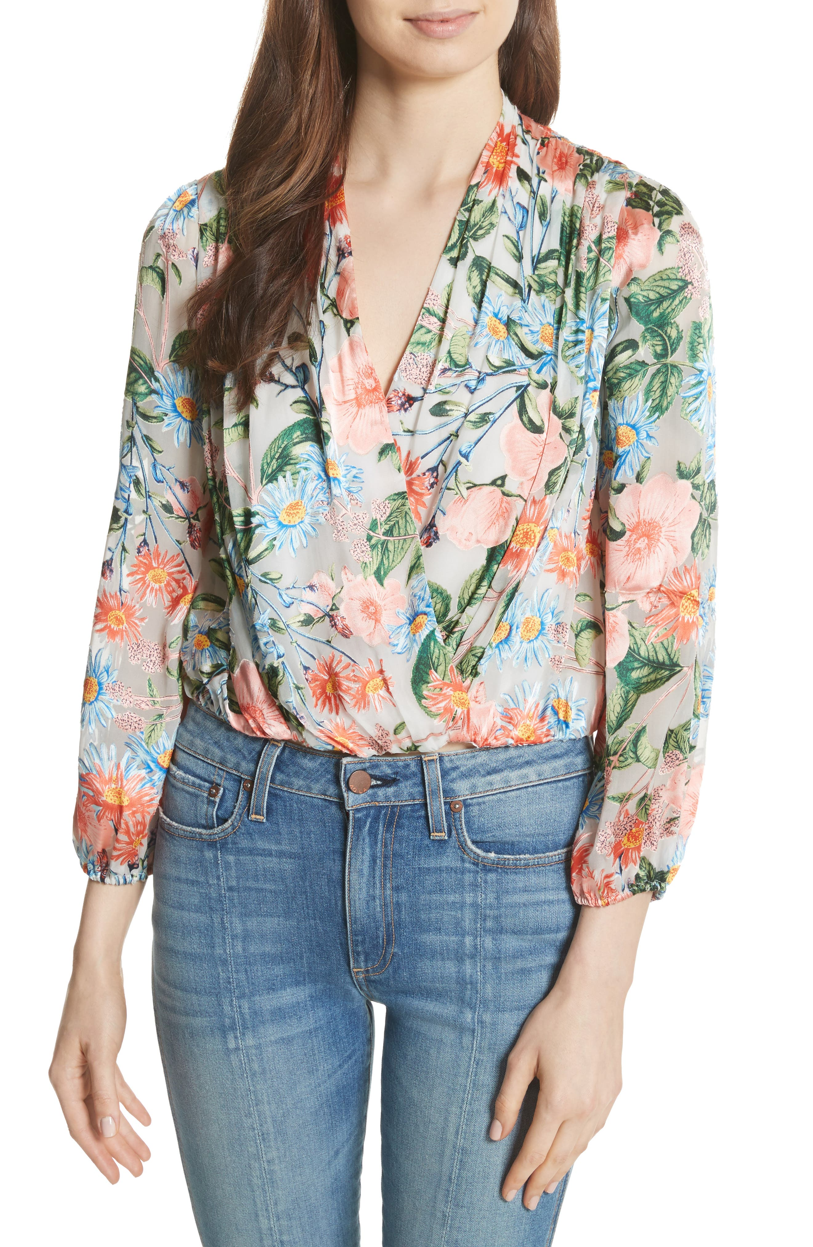 Trista Blouson Top by Alice + Olivia