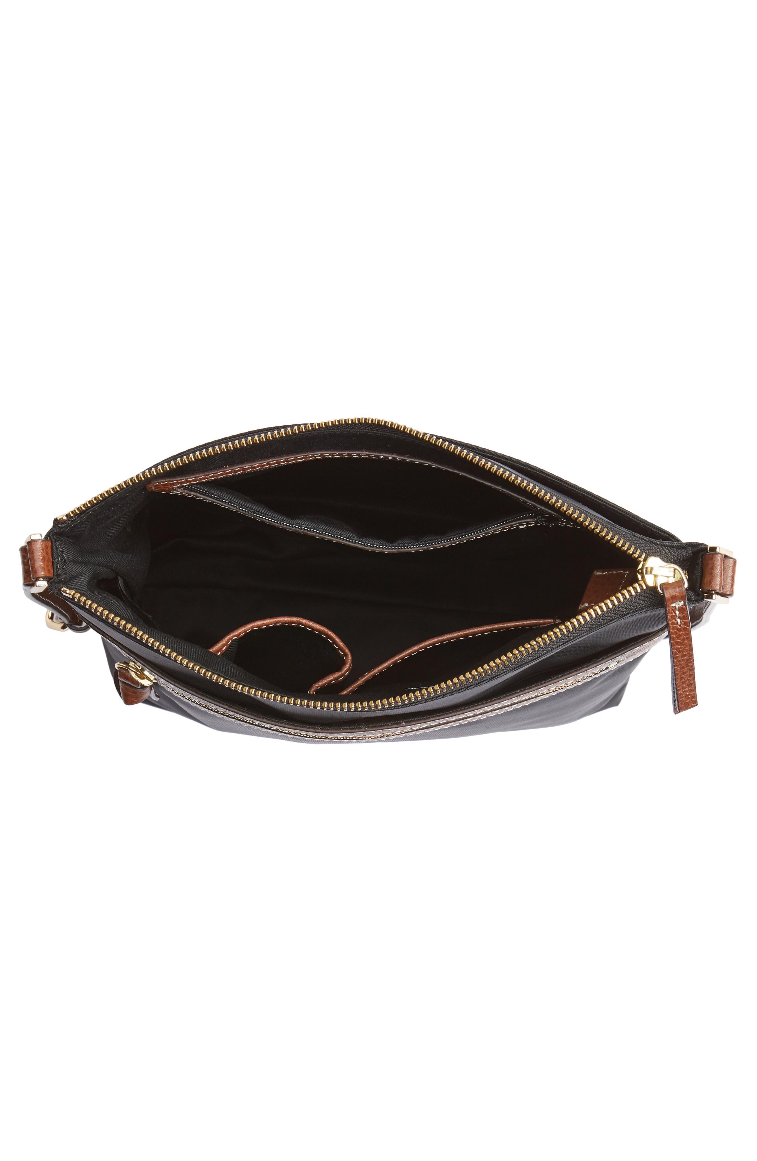 Halogen Nylon Crossbody Bag,                             Alternate thumbnail 4, color,                             001