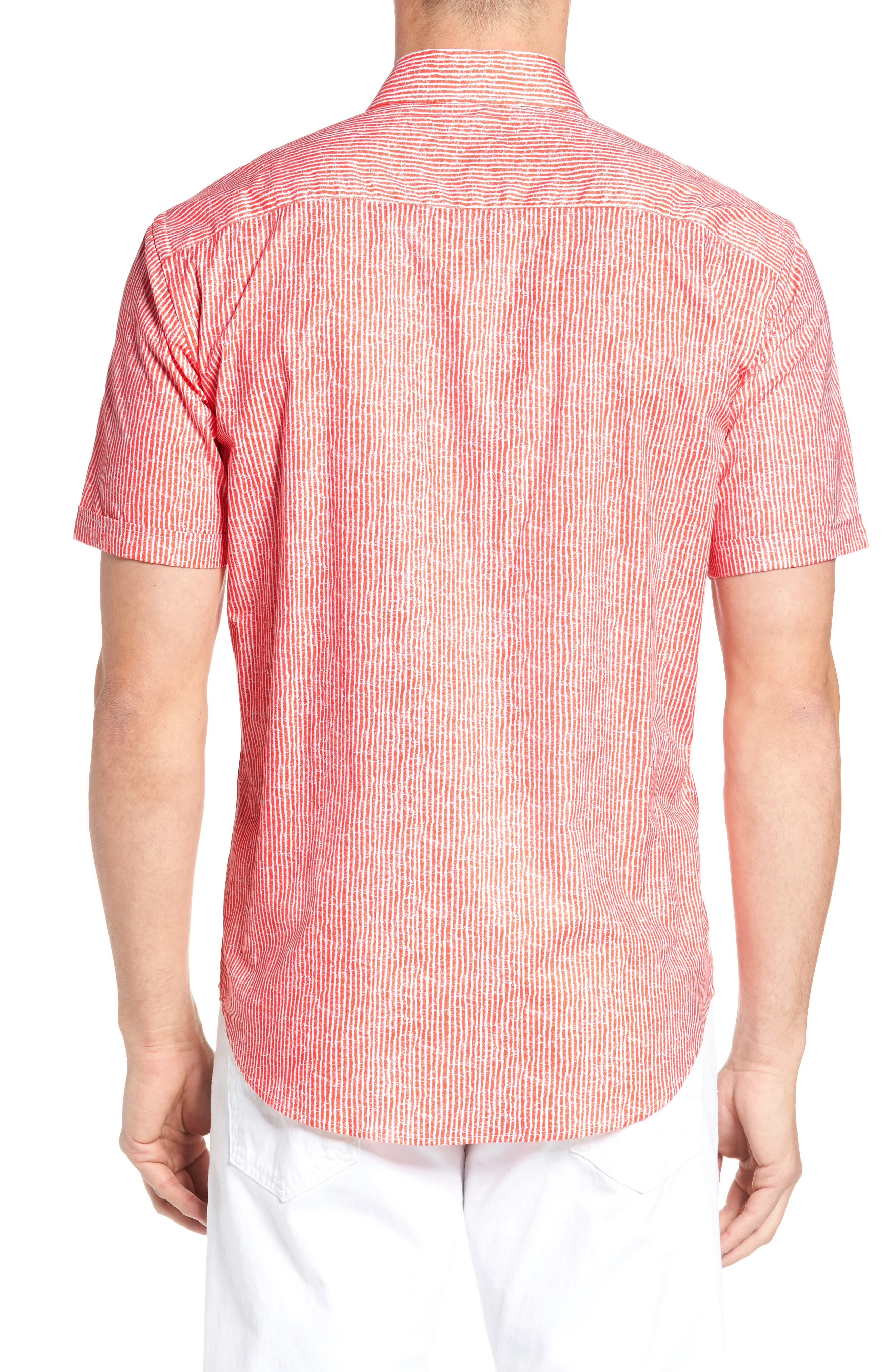 Shaped Fit Stripe Sport Shirt,                             Alternate thumbnail 10, color,