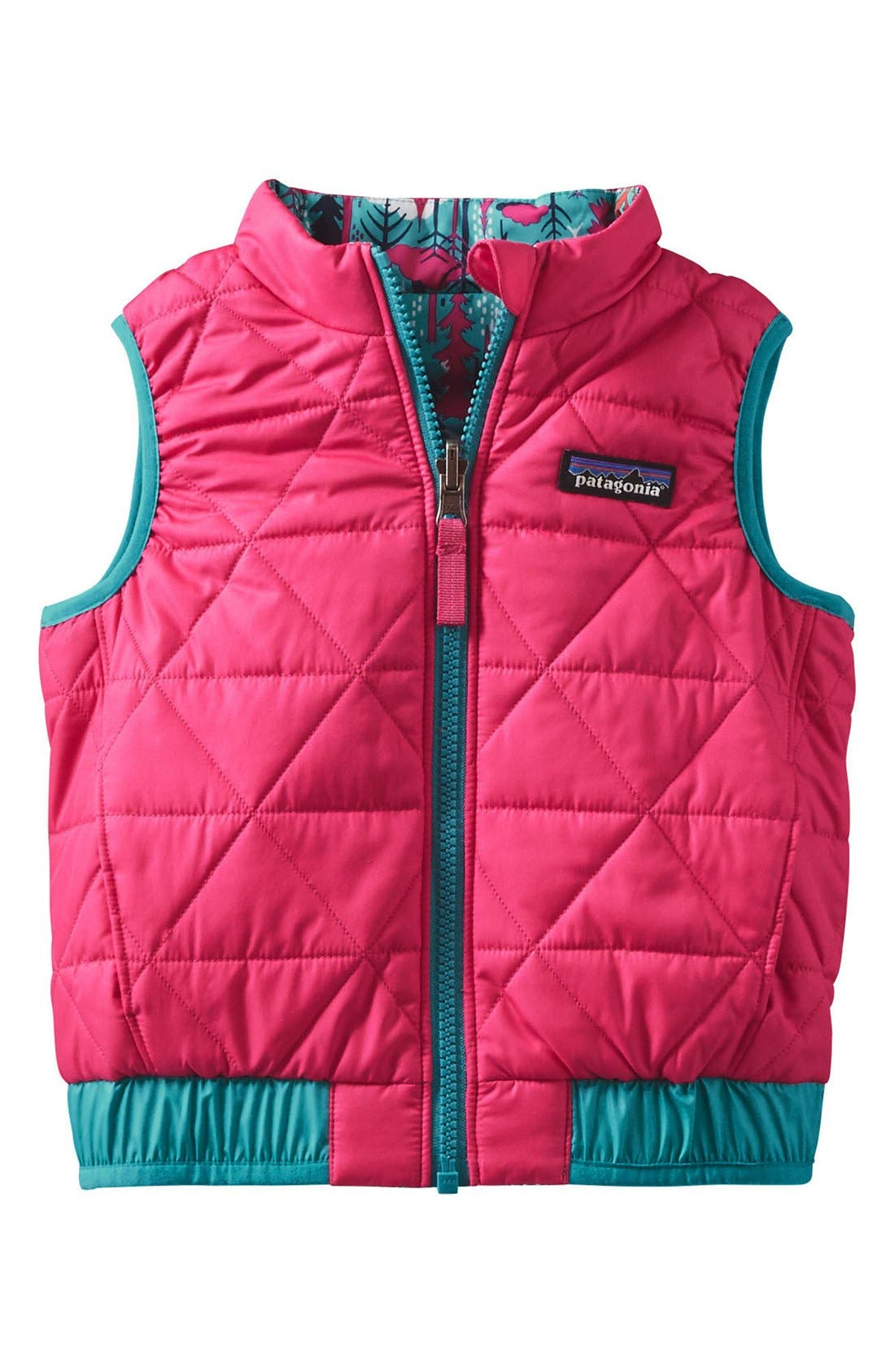 'Puff-Ball' Water Resistant Reversible Vest,                             Alternate thumbnail 13, color,