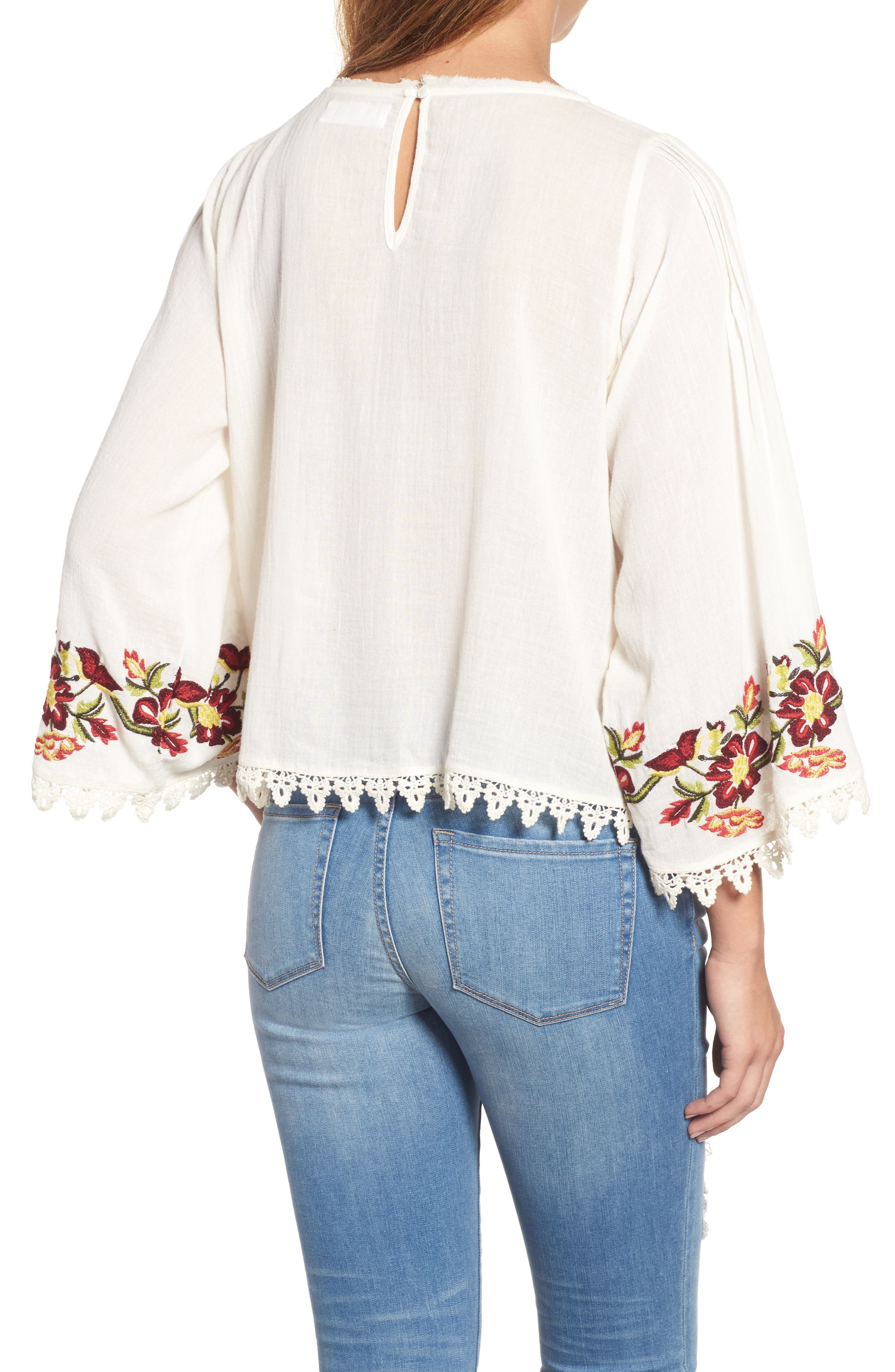 Embroidered Swing Blouse,                             Alternate thumbnail 2, color,                             902