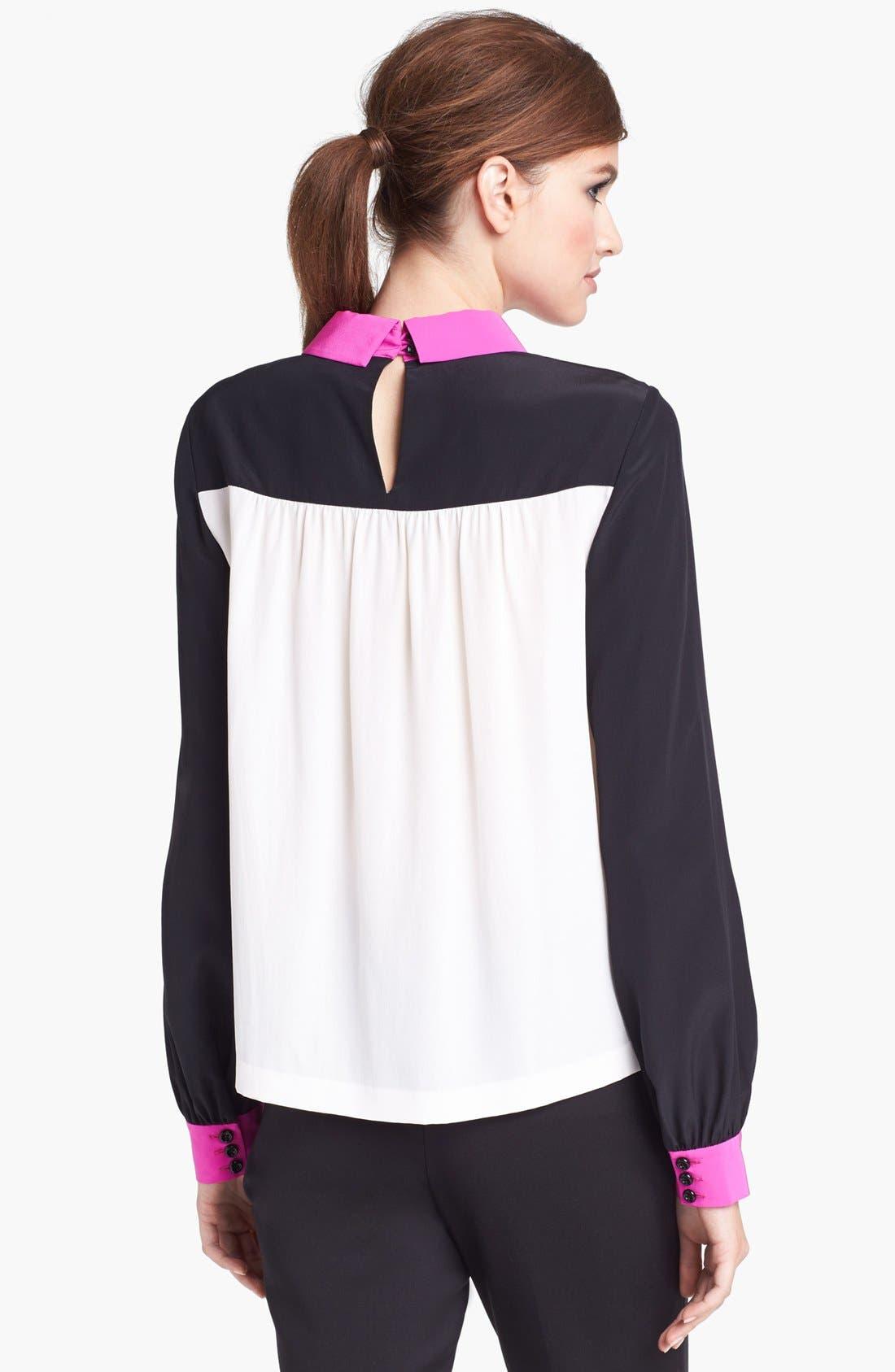 'shelley' silk top,                             Alternate thumbnail 2, color,                             650