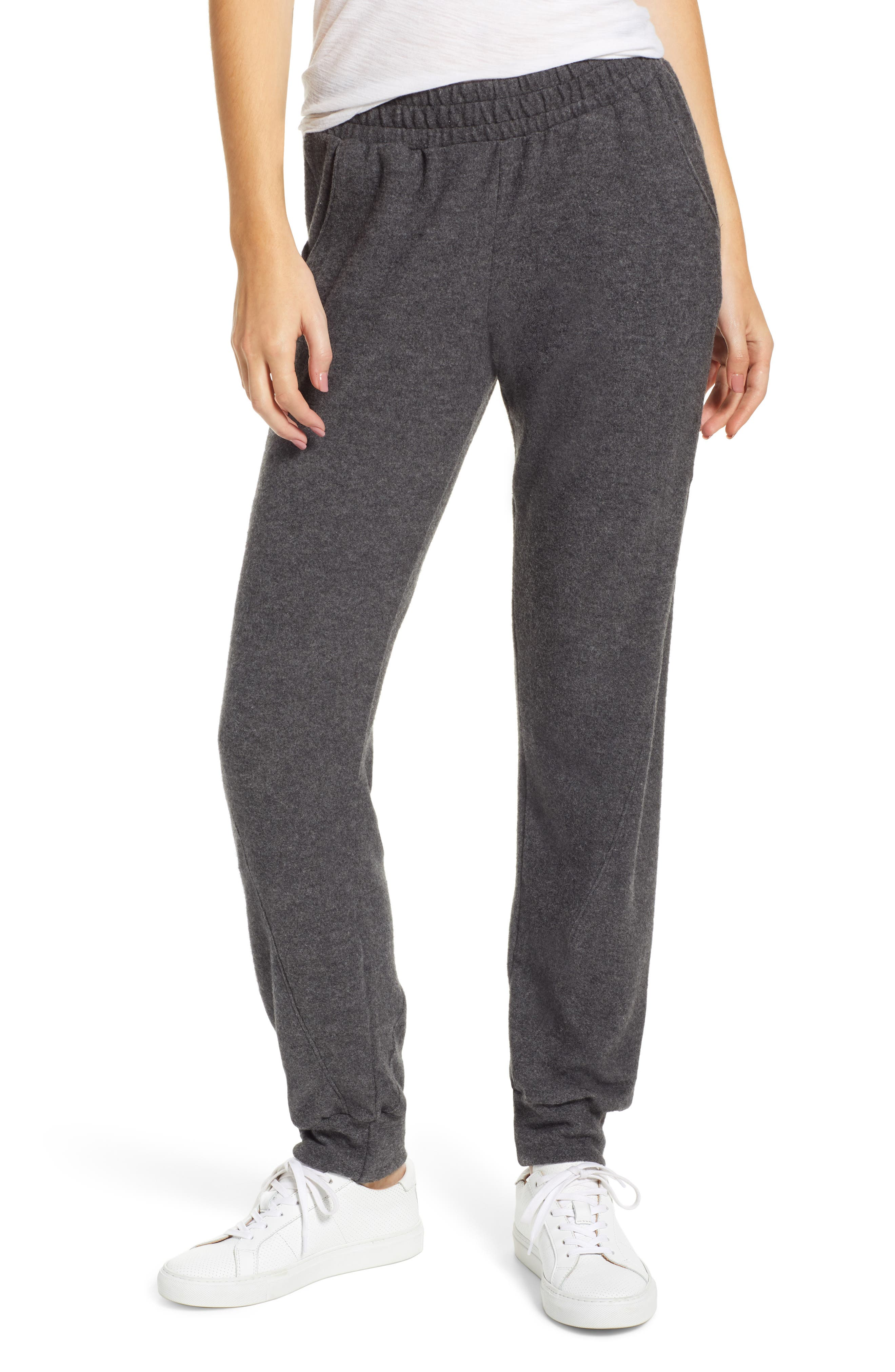 PROJECT SOCIAL T Calhoun Cozy Seamed Sweatpants in Charcoal