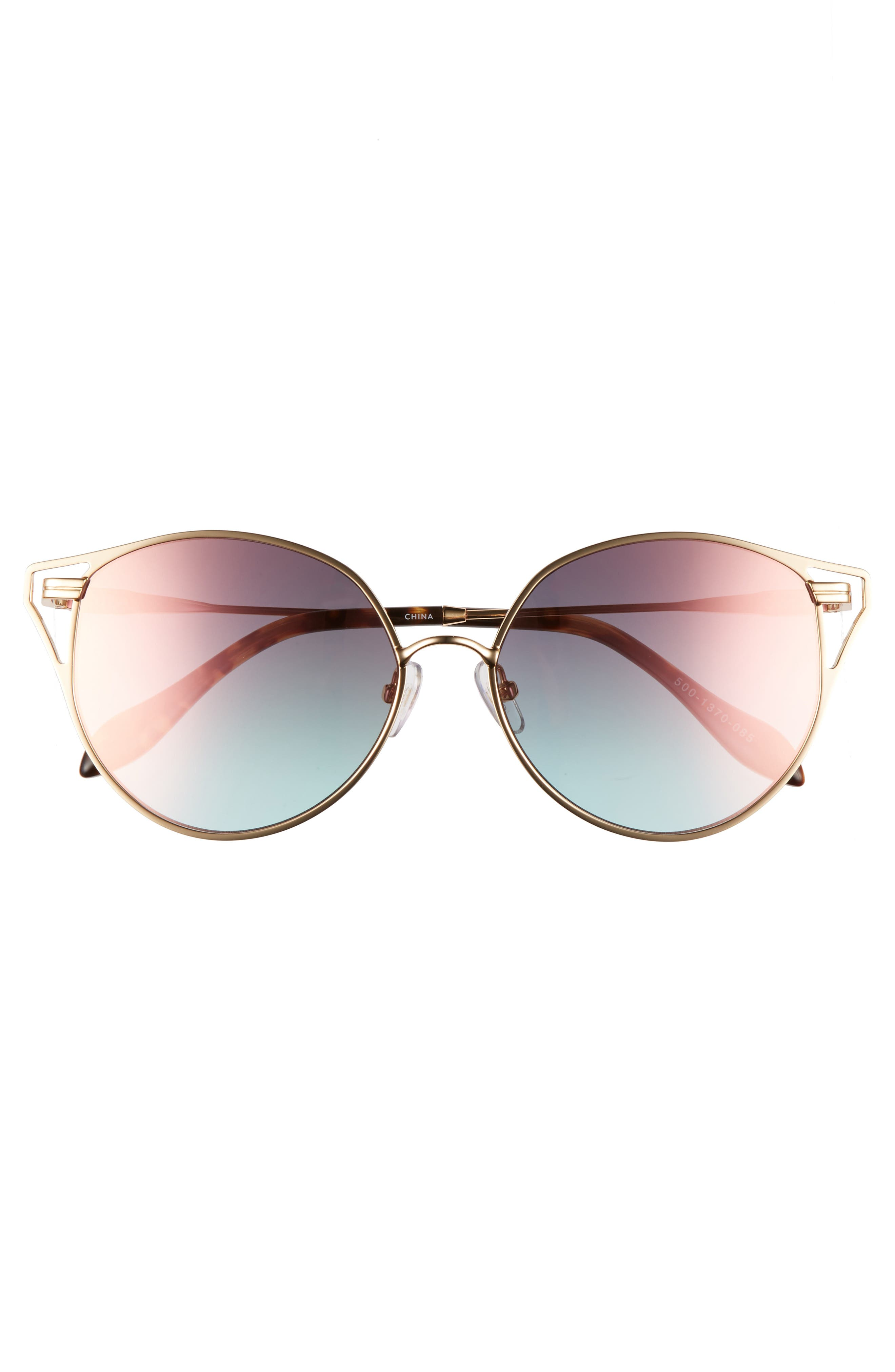 Ibiza 55mm Cat Eye Sunglasses,                             Alternate thumbnail 9, color,
