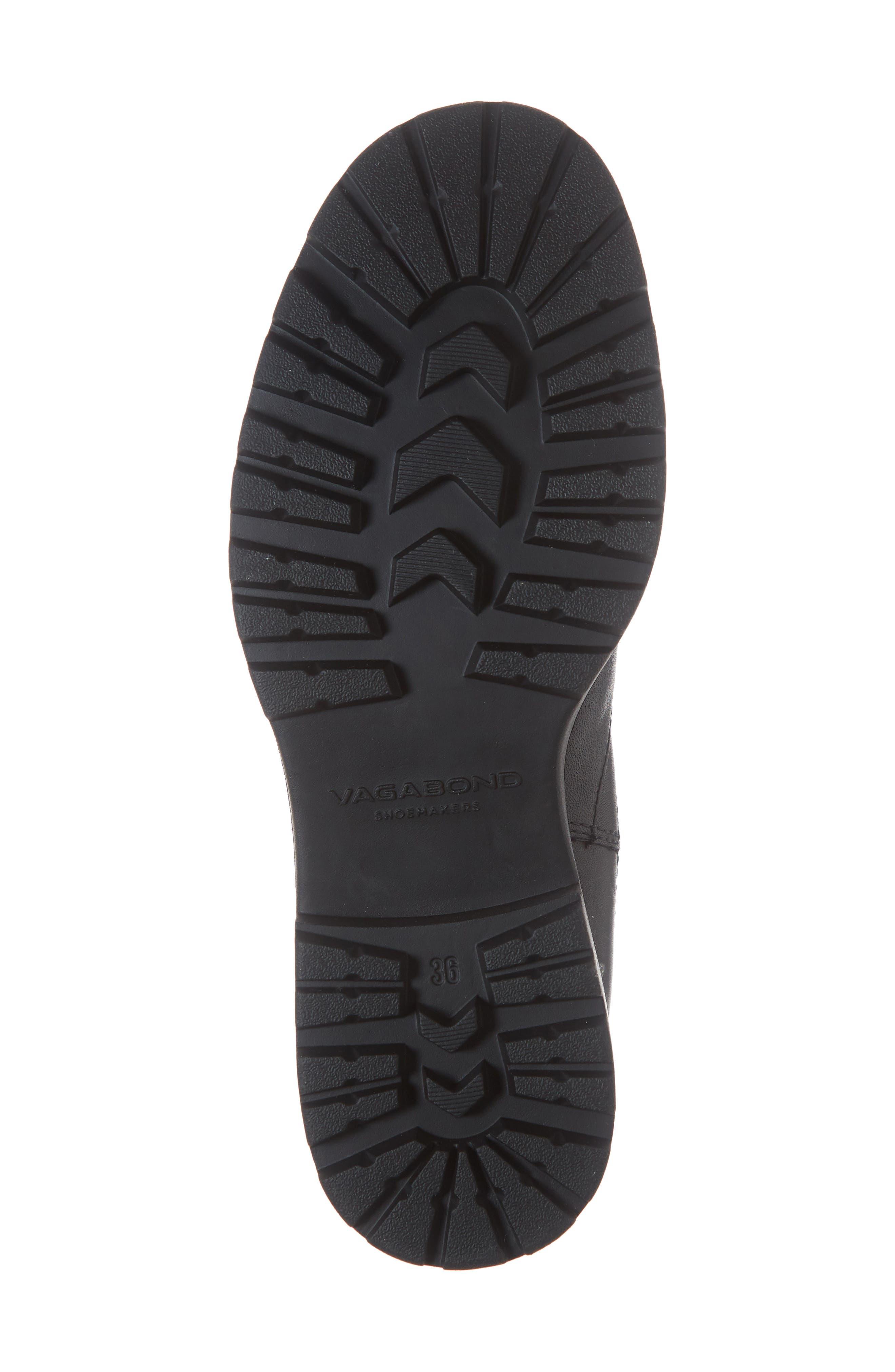 Kenova Lugged Chelsea Boot,                             Alternate thumbnail 6, color,                             BLACK LEATHER