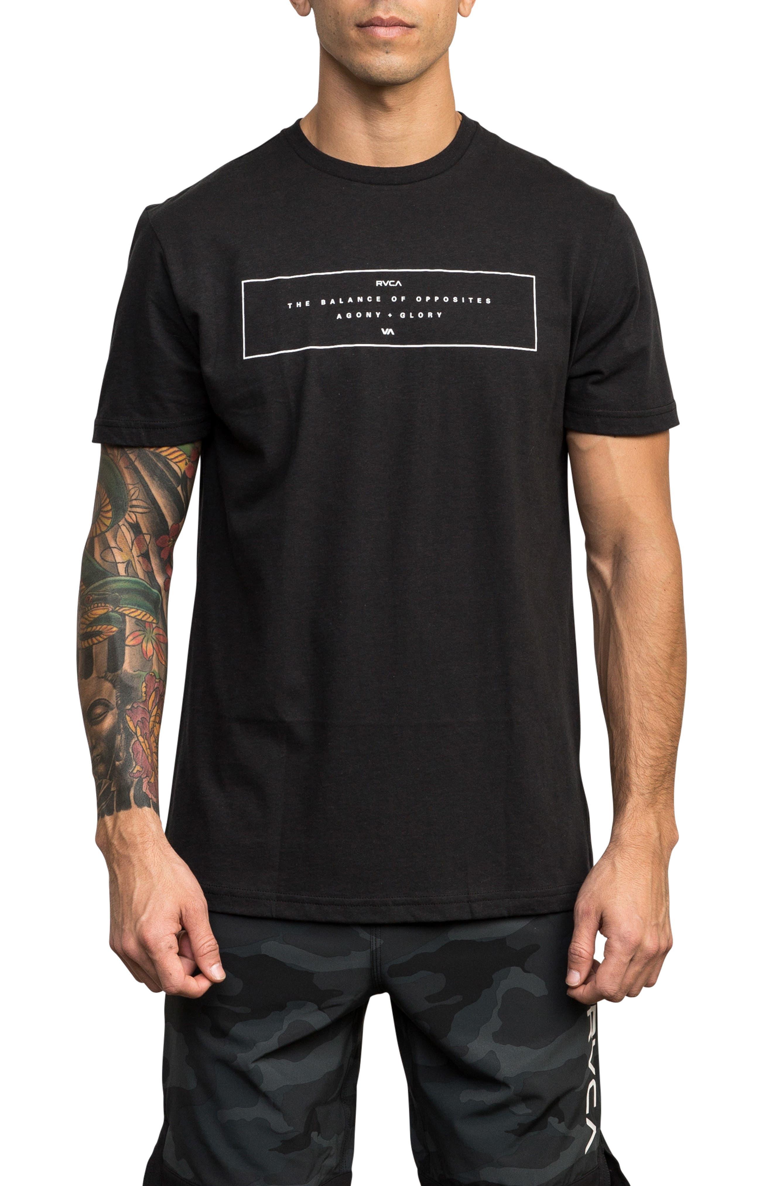 Rvca Sports Bar Graphic T-Shirt, Black