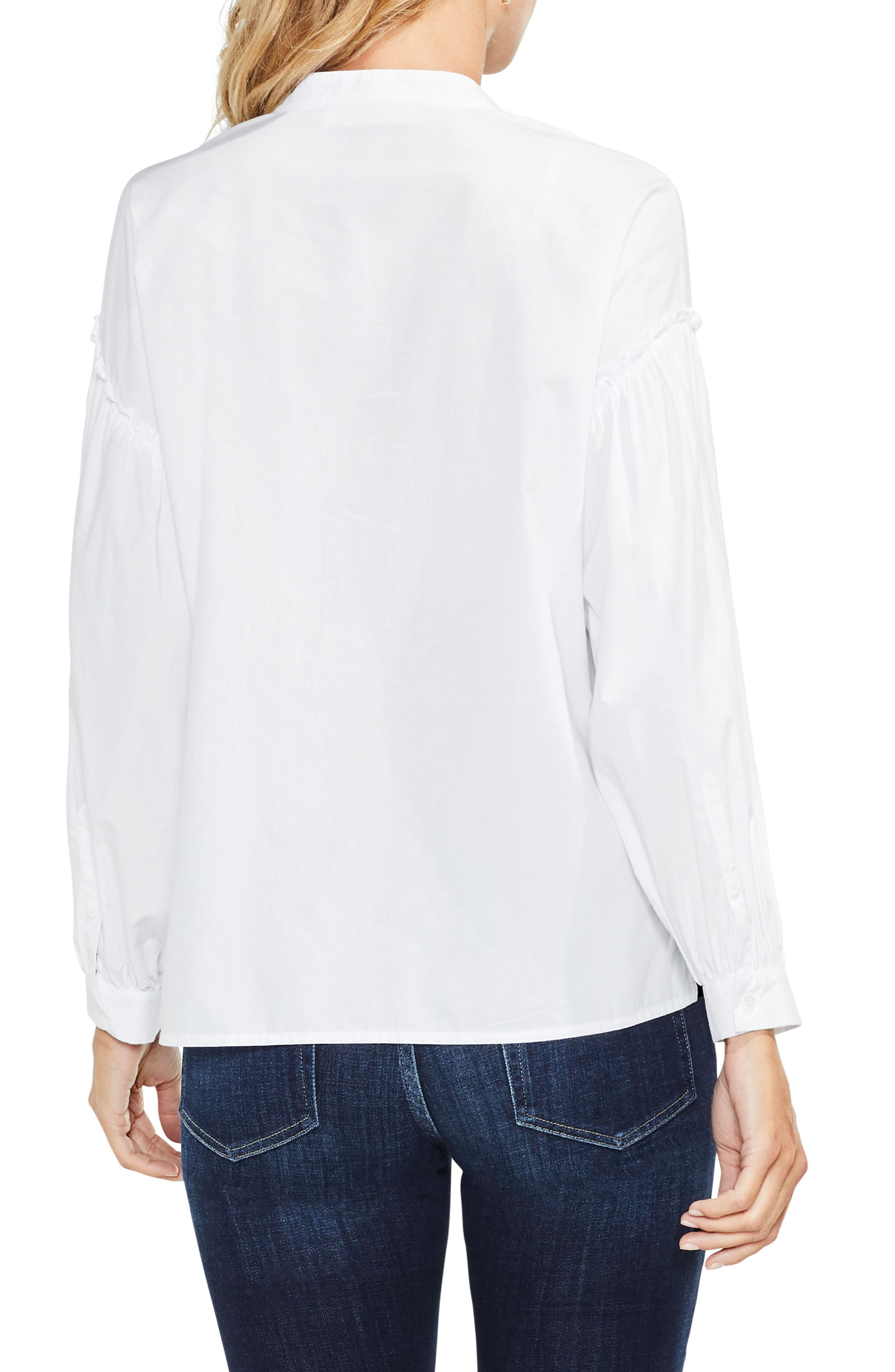 Embroidered Poplin Blouse,                             Alternate thumbnail 2, color,