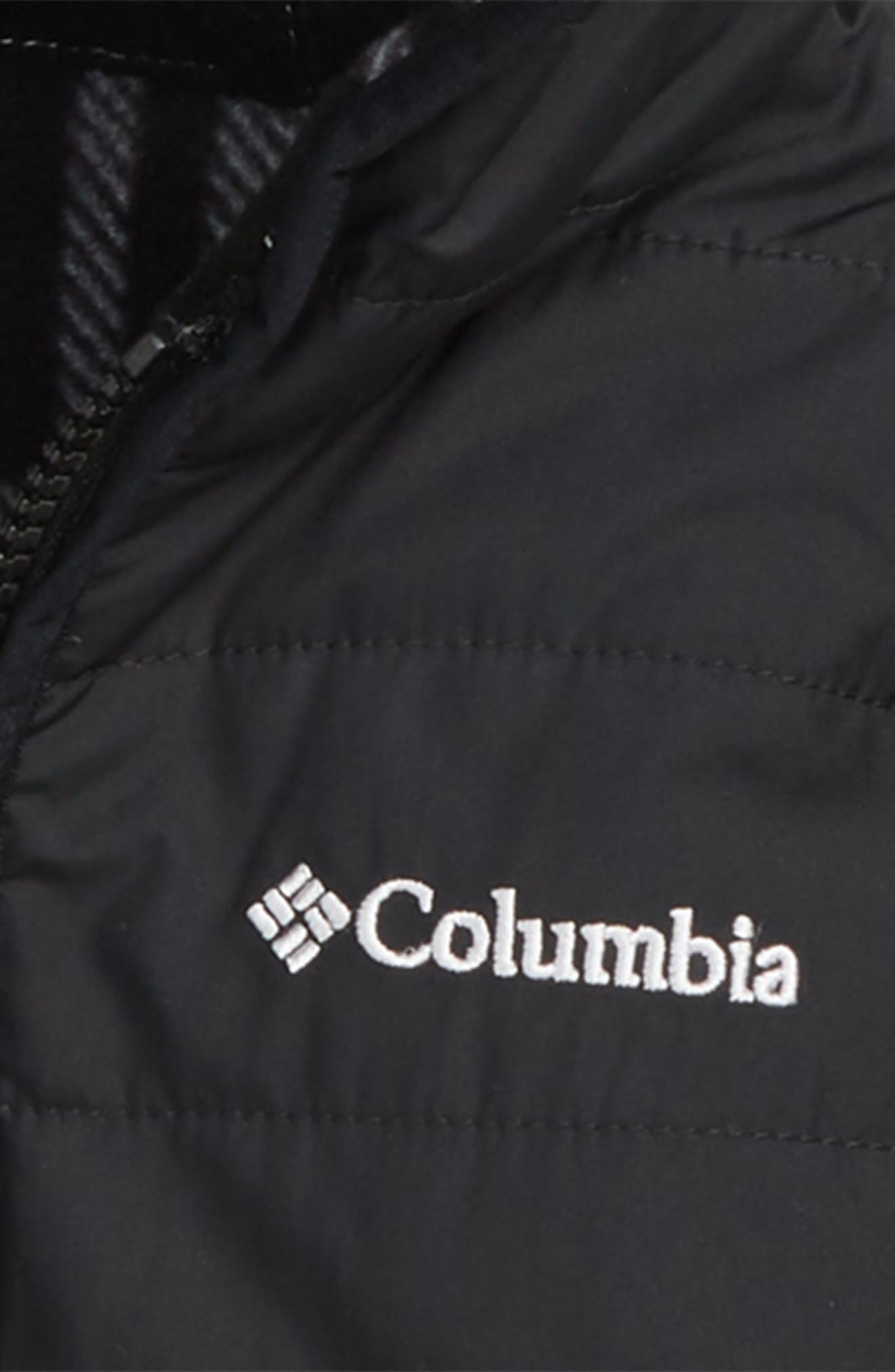 Double Trouble Omni-Shield Reversible Water-Resistant Hooded Jacket,                             Alternate thumbnail 3, color,                             BLACK