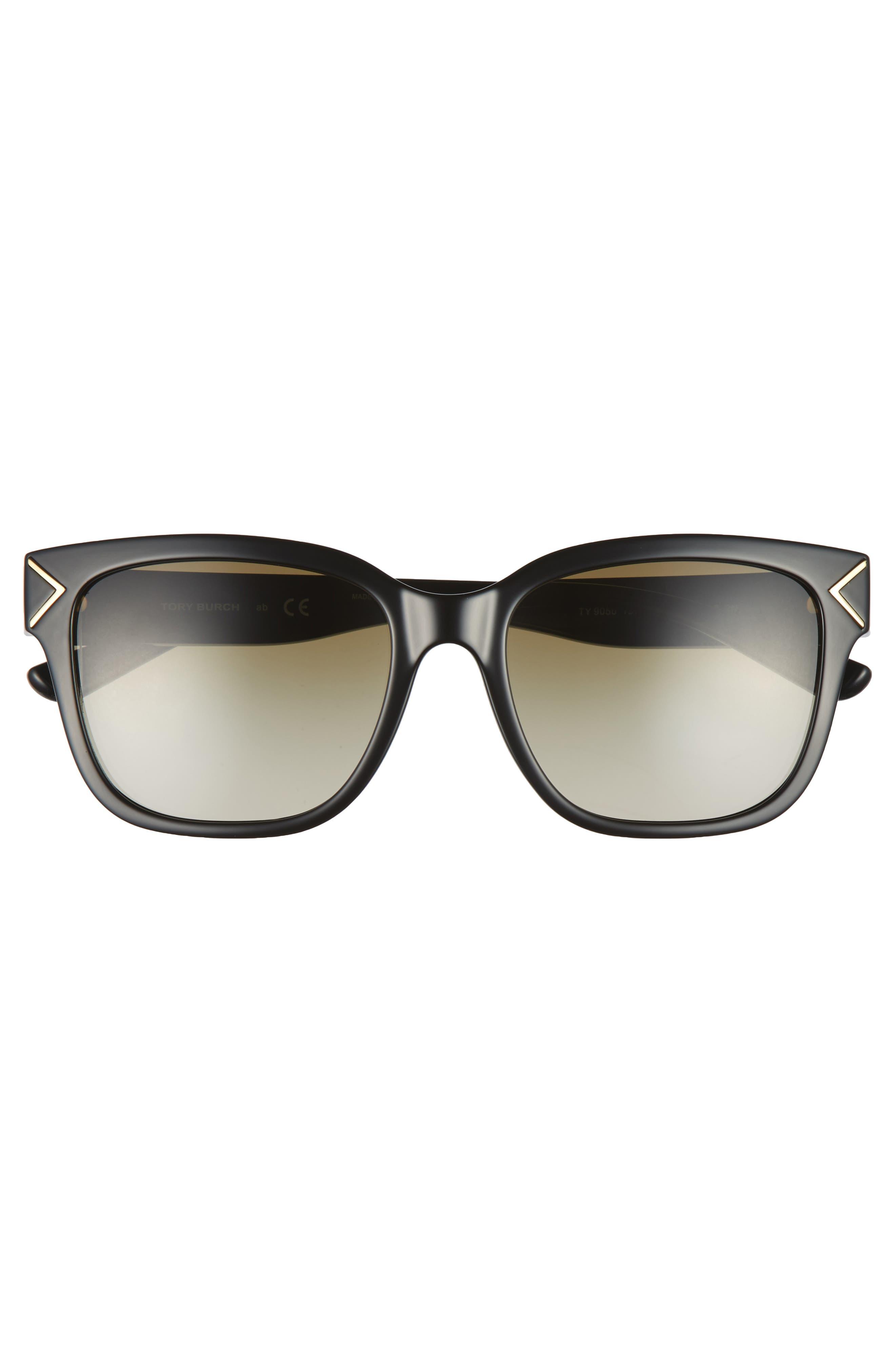 55mm Gradient Sunglasses,                             Alternate thumbnail 3, color,                             001