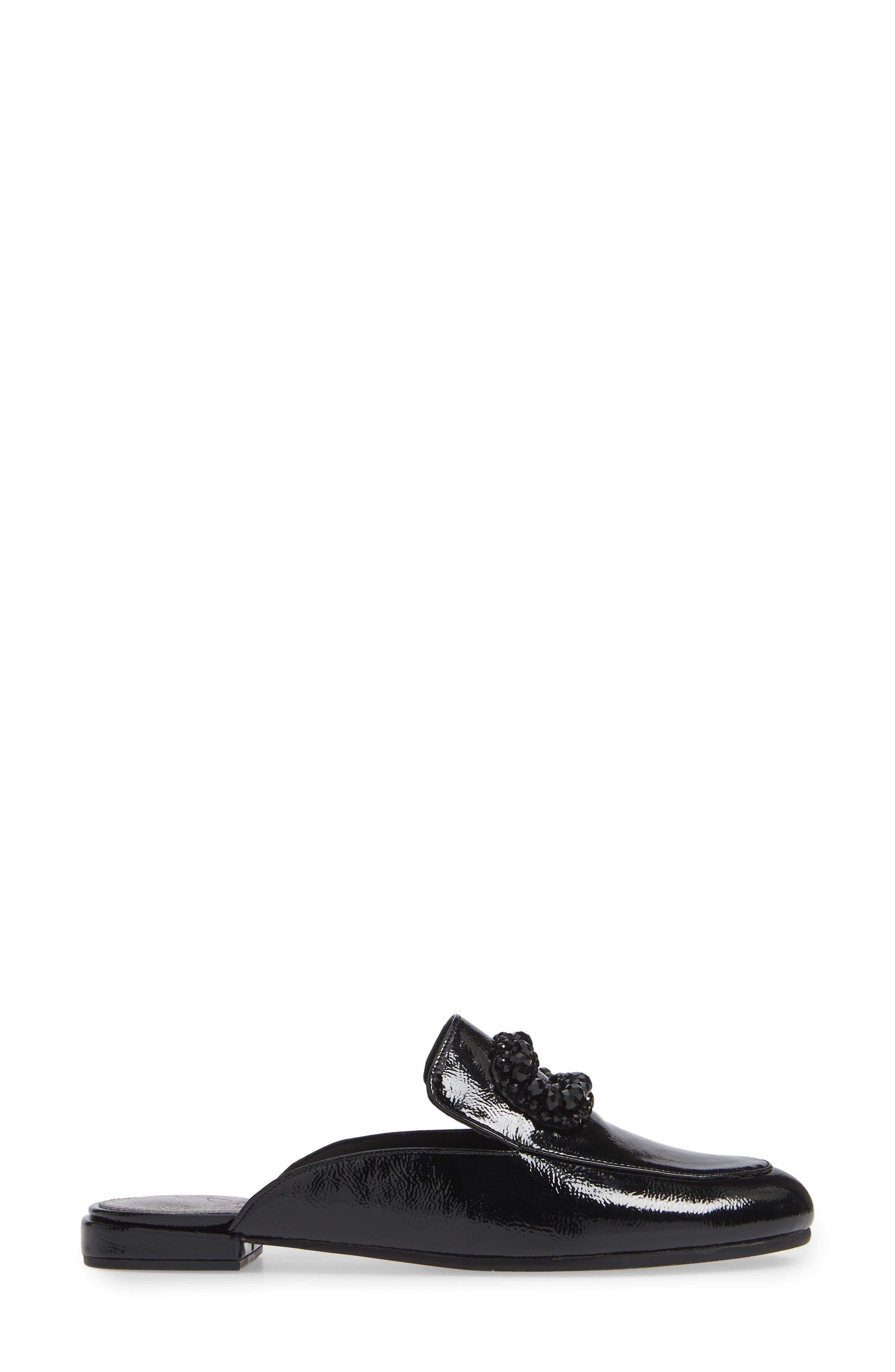Becky Embellished Mule,                             Alternate thumbnail 3, color,                             BLACK CRINKLED PATENT
