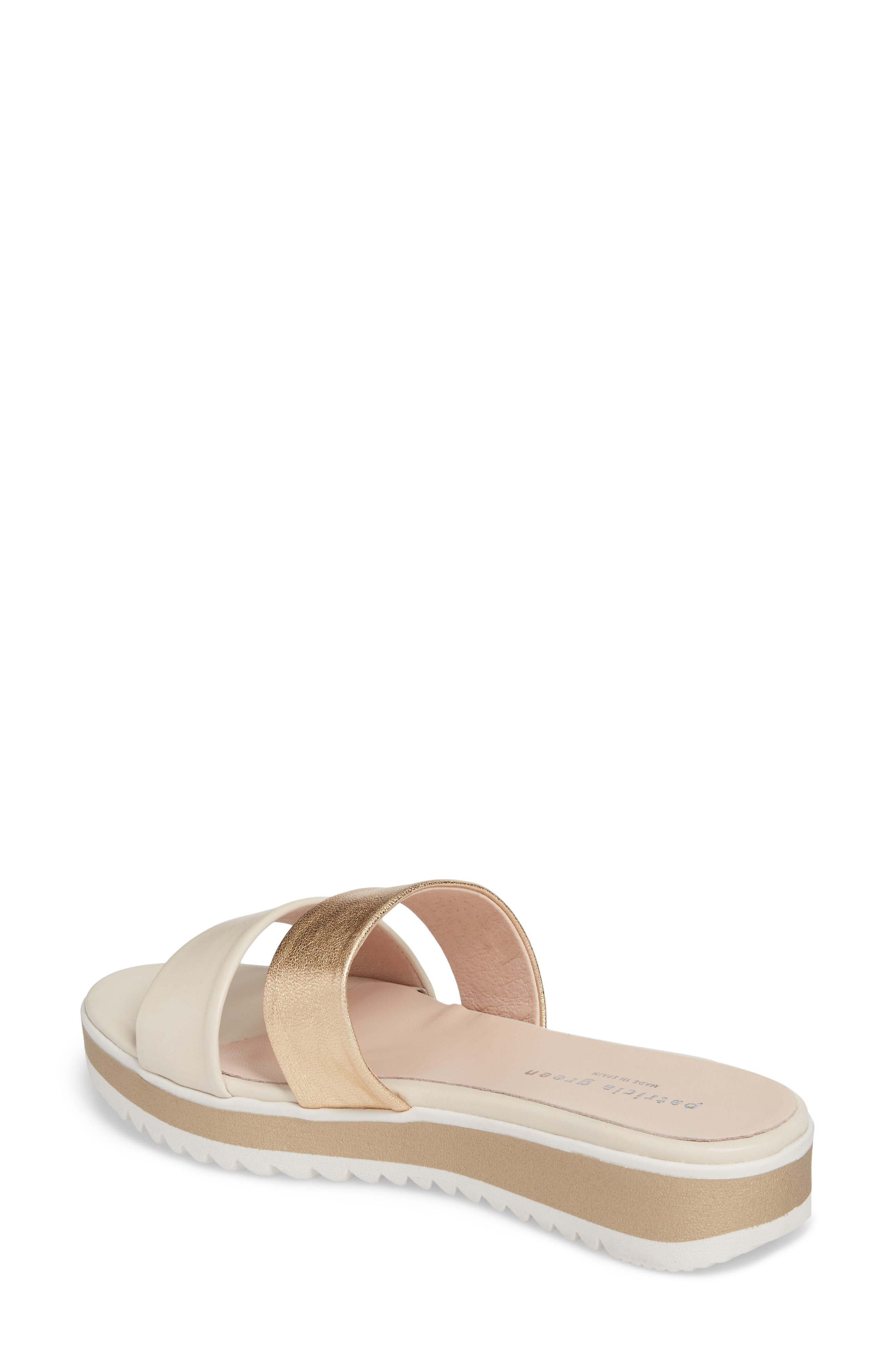 Bailey Slide Sandal,                             Alternate thumbnail 2, color,                             SAND LEATHER