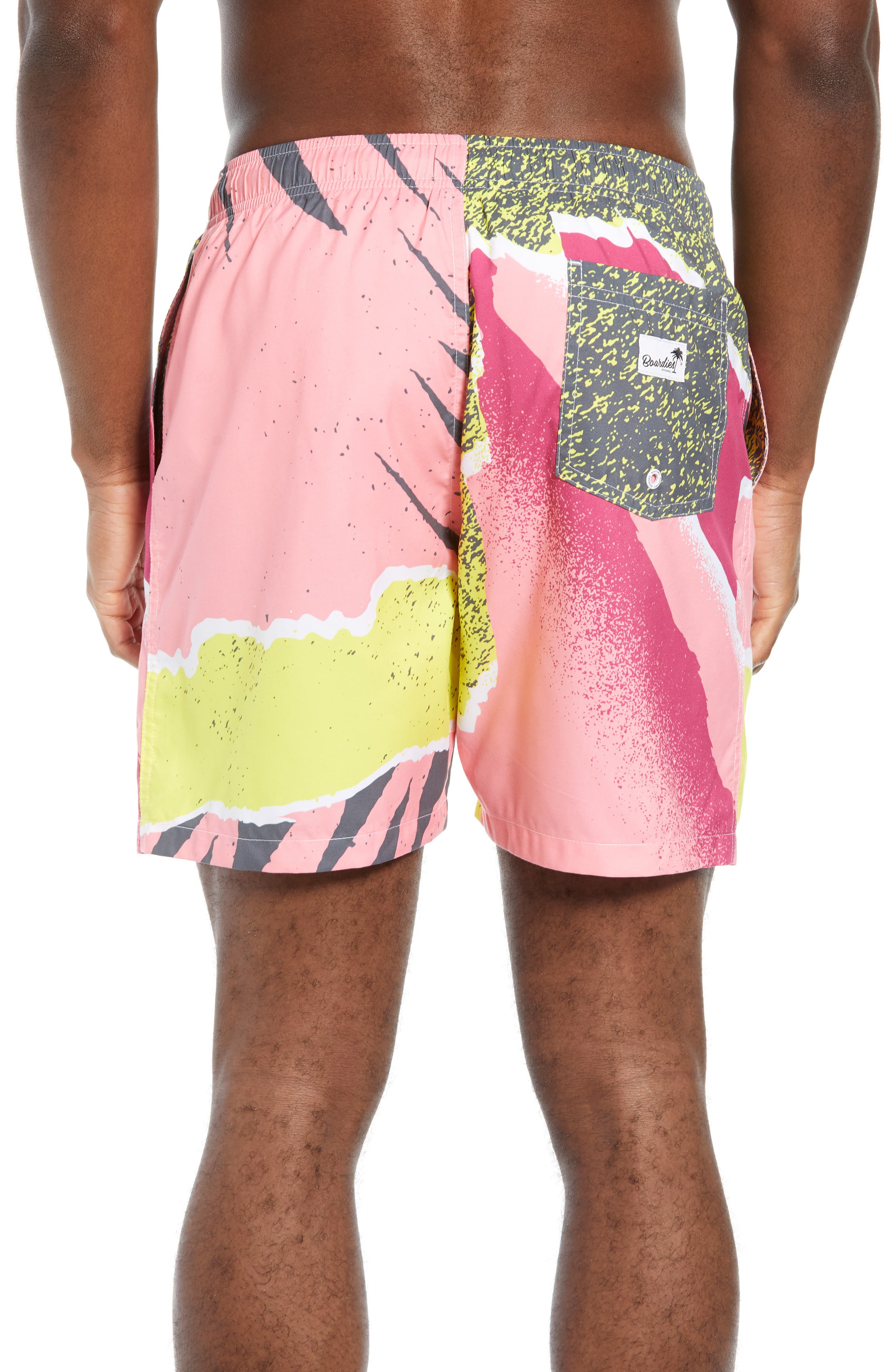 Andre Retro Board Shorts,                             Alternate thumbnail 2, color,                             PINK