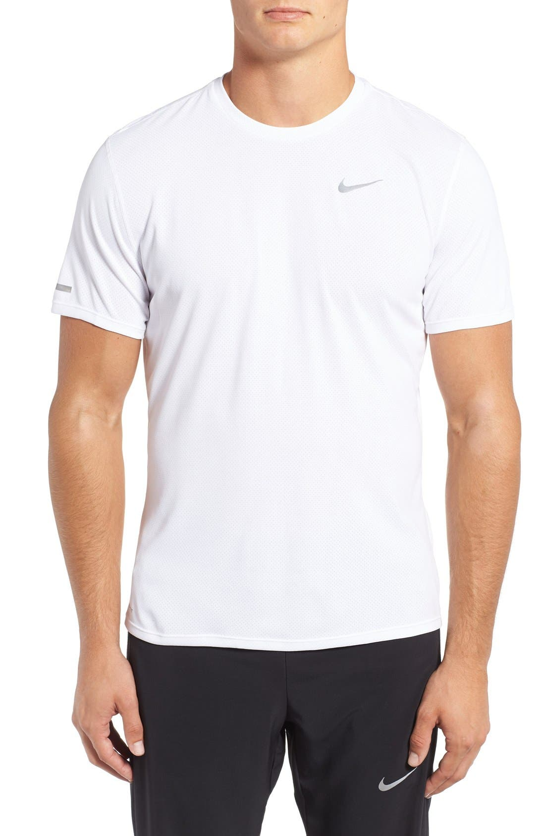 'Contour' Mesh Dri-FIT Running T-Shirt,                             Main thumbnail 2, color,