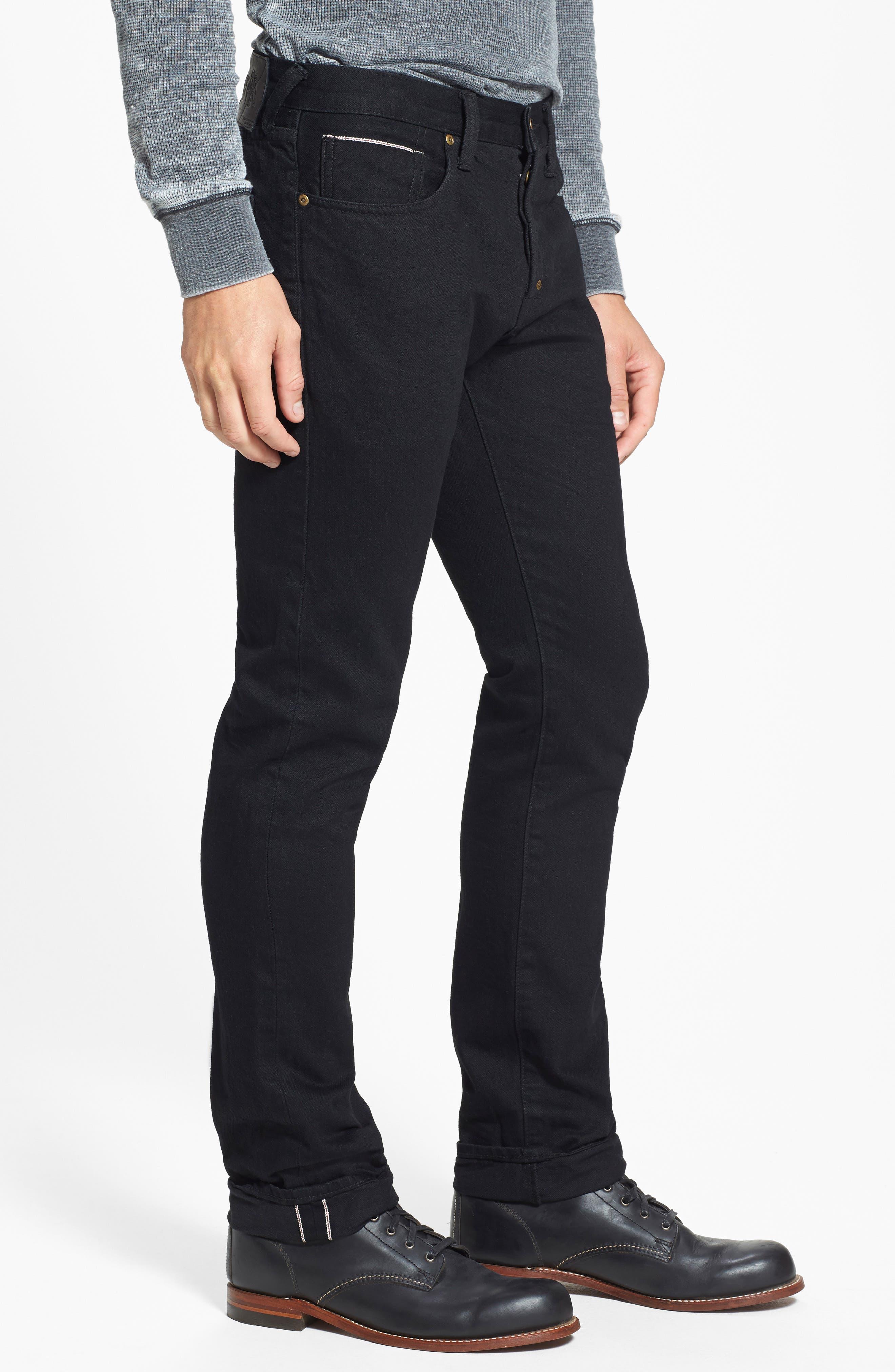 'Demon' Slim Straight Leg Selvedge Jeans,                             Alternate thumbnail 3, color,                             013
