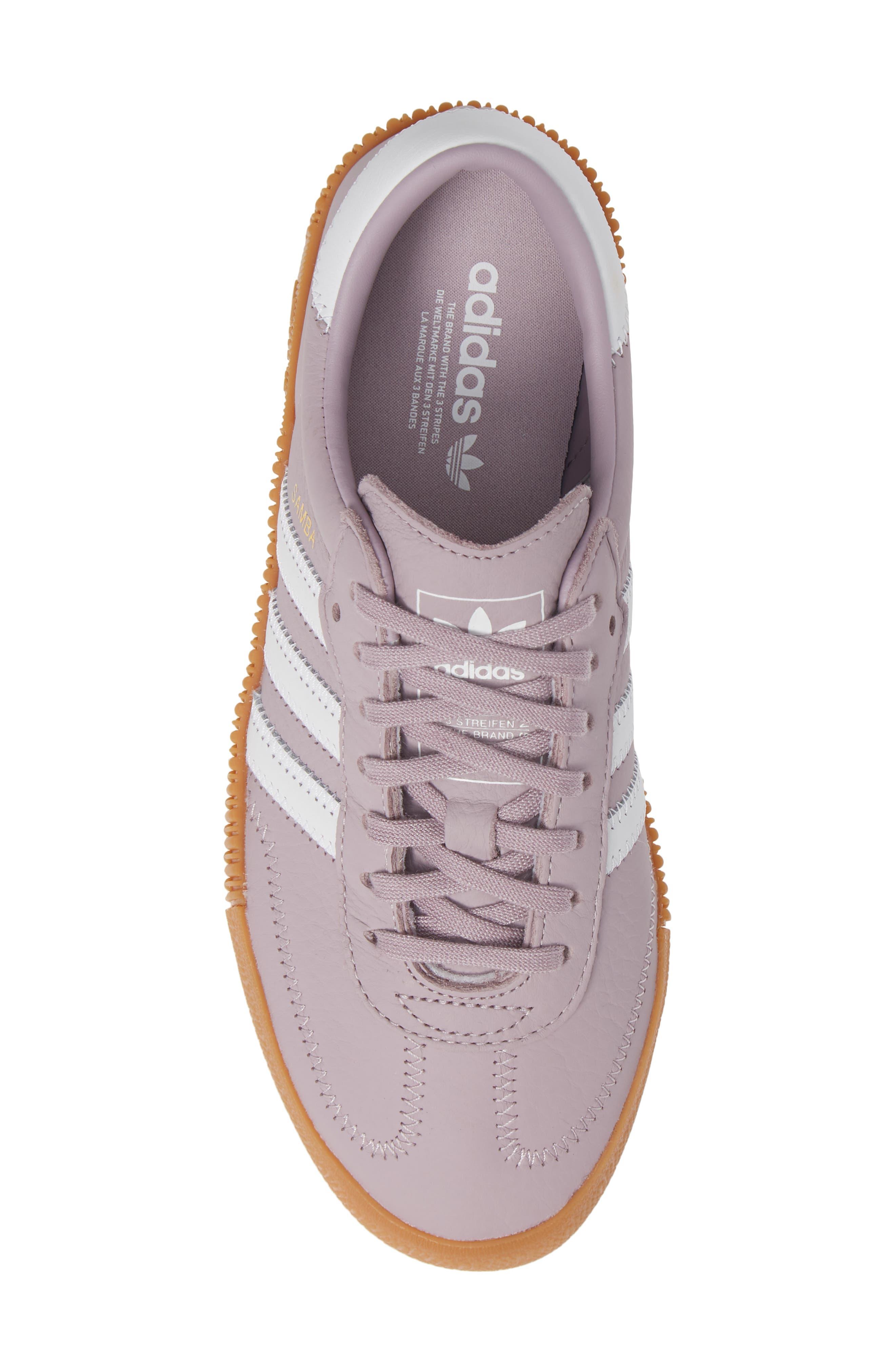 ADIDAS,                             Samba Rose Sneaker,                             Alternate thumbnail 5, color,                             SOFT VISION/ WHITE/ GUM