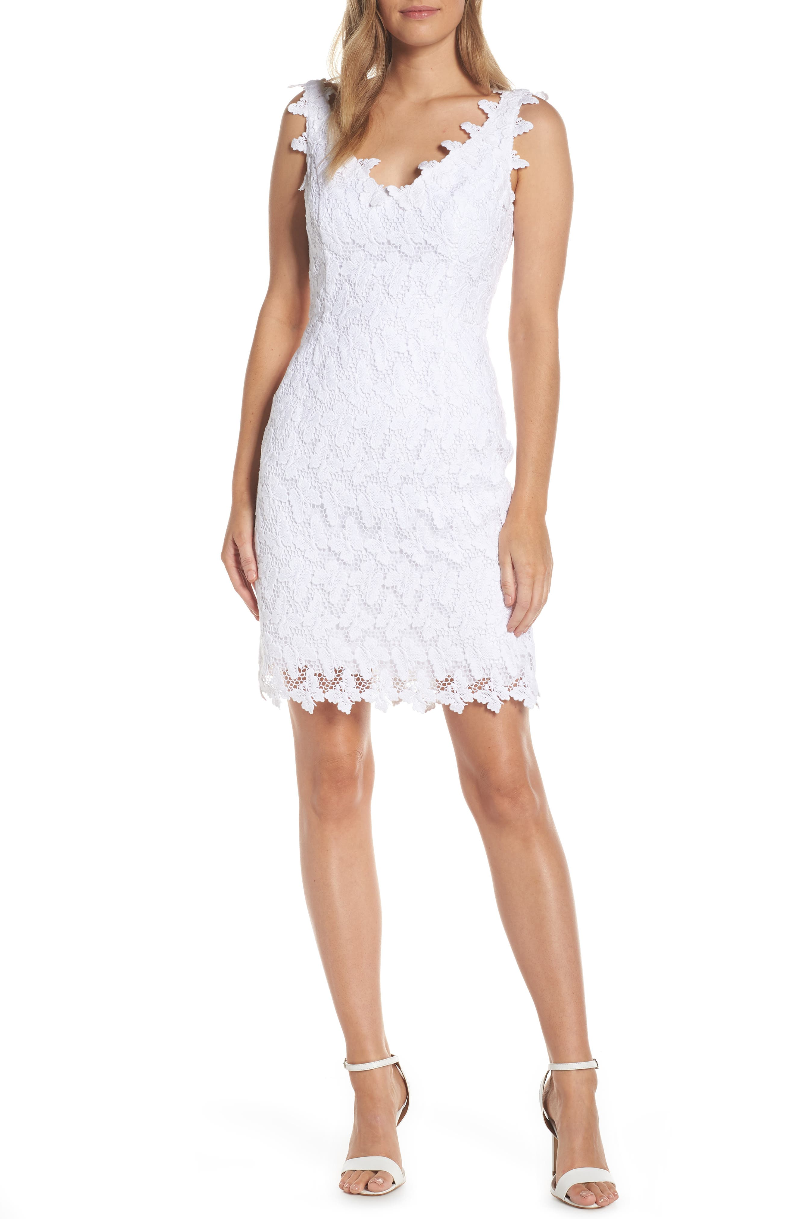 Lilly Pulitzer Reeve Lace Sheath Dress, White