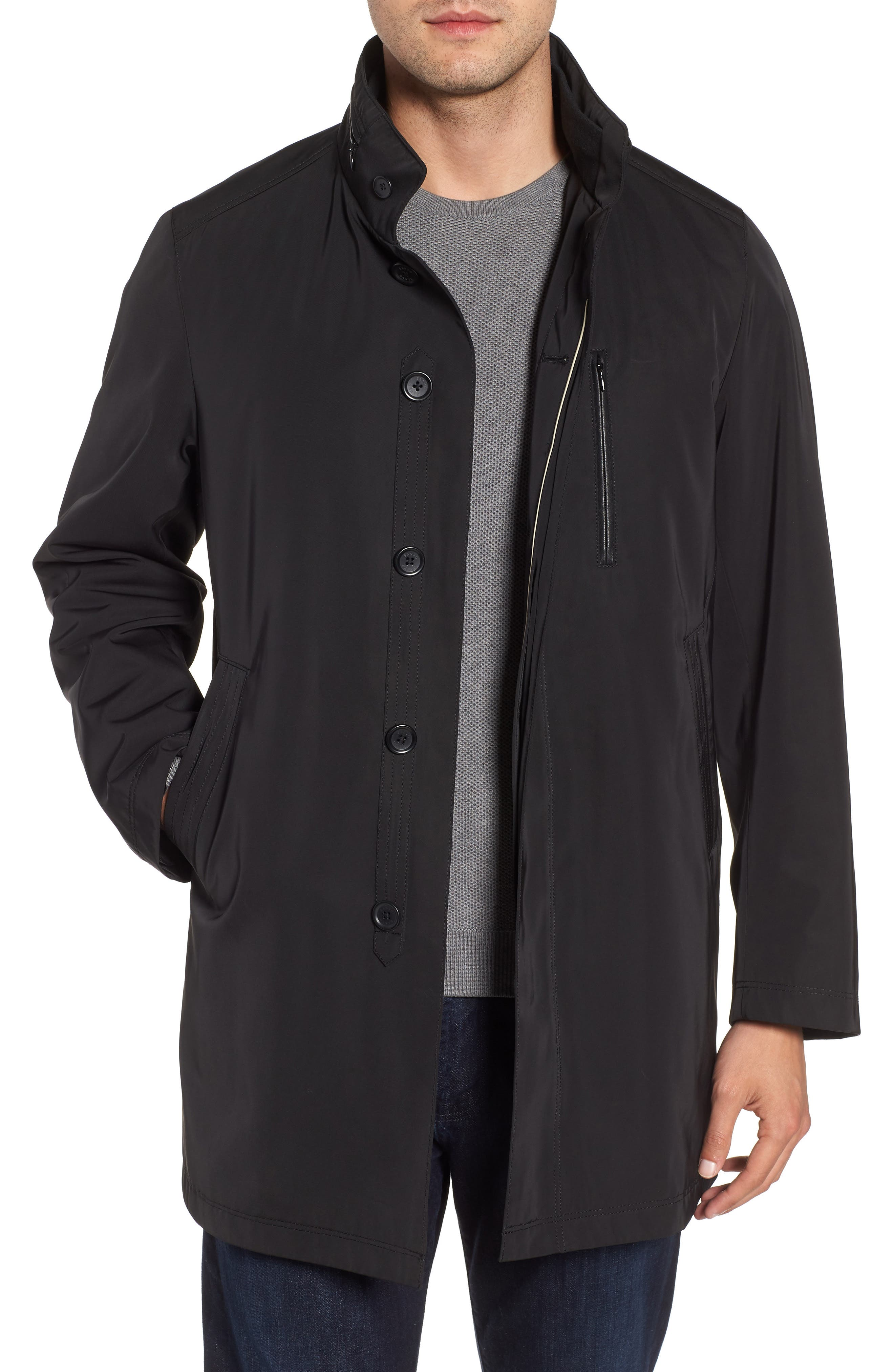 Hardy Getaway Raincoat,                             Main thumbnail 1, color,                             BLACK