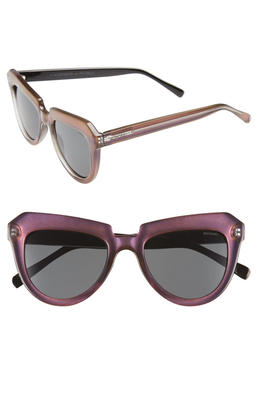 'Stella' Sunglasses,                         Main,                         color, 500