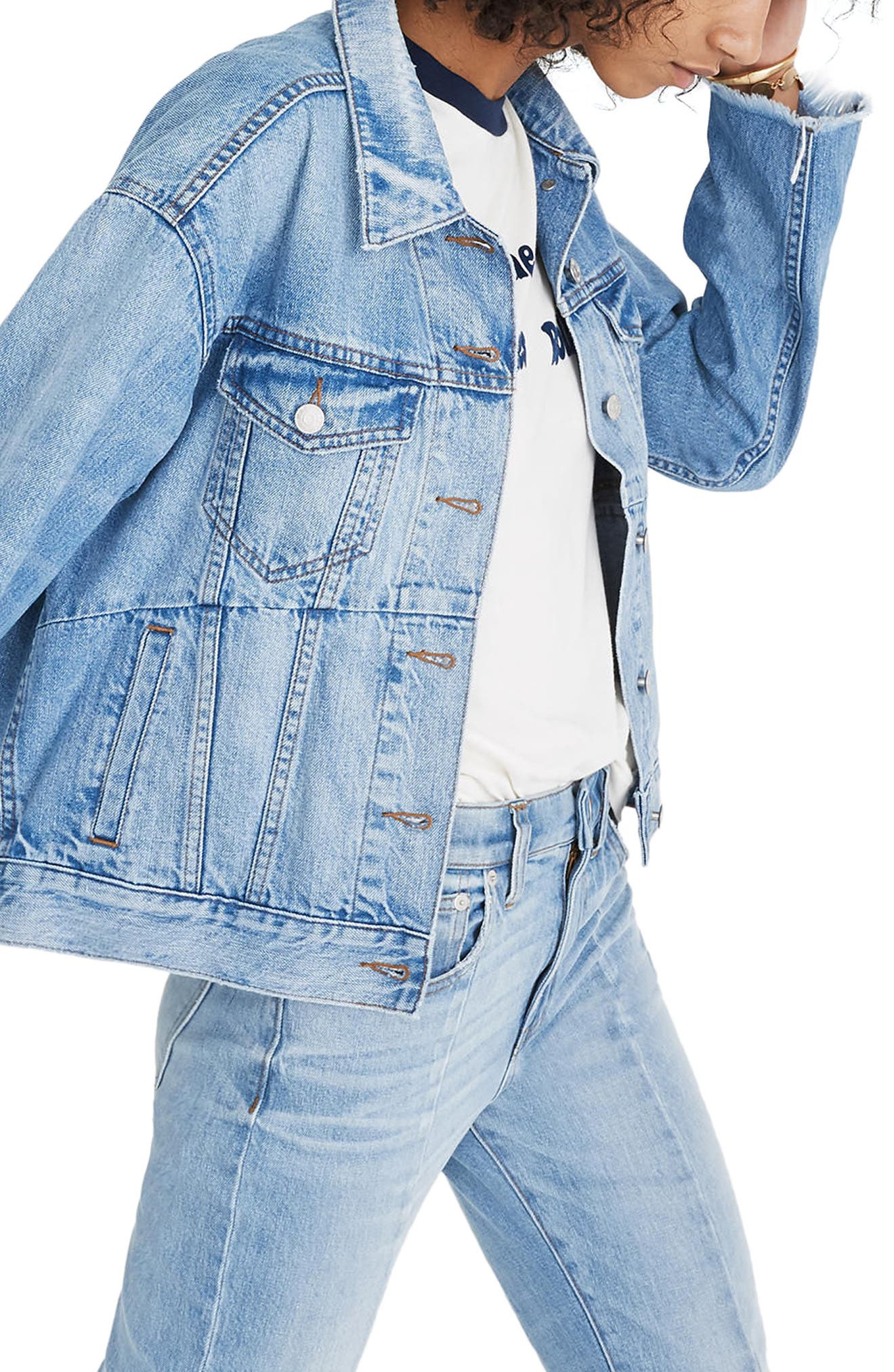 Reconstructed Jean Jacket,                             Alternate thumbnail 3, color,                             400