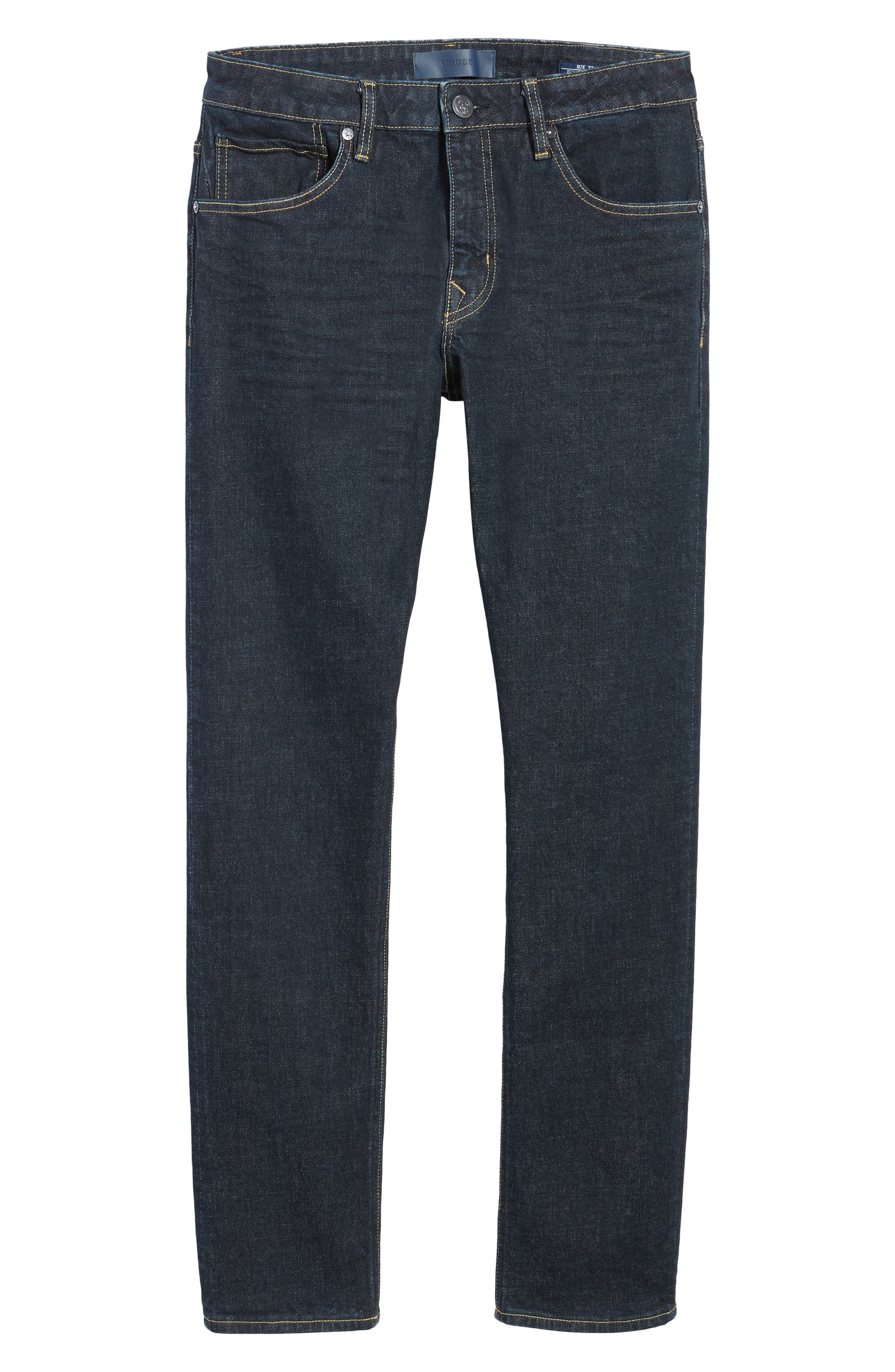 VIGOSS,                             Slim Straight Leg Jeans,                             Alternate thumbnail 7, color,                             DARK RINSE