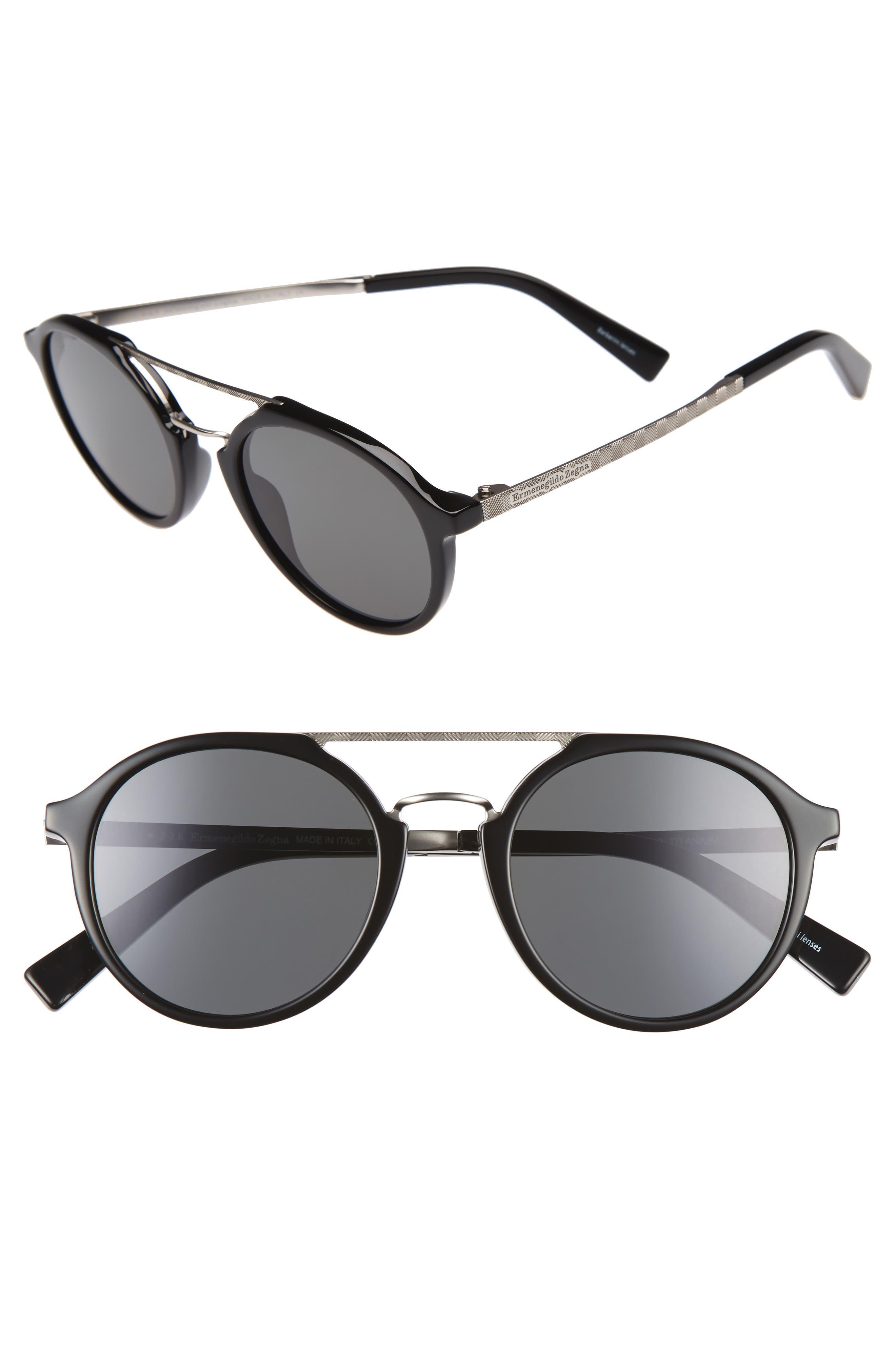 Retro 50mm Sunglasses,                             Alternate thumbnail 2, color,                             018