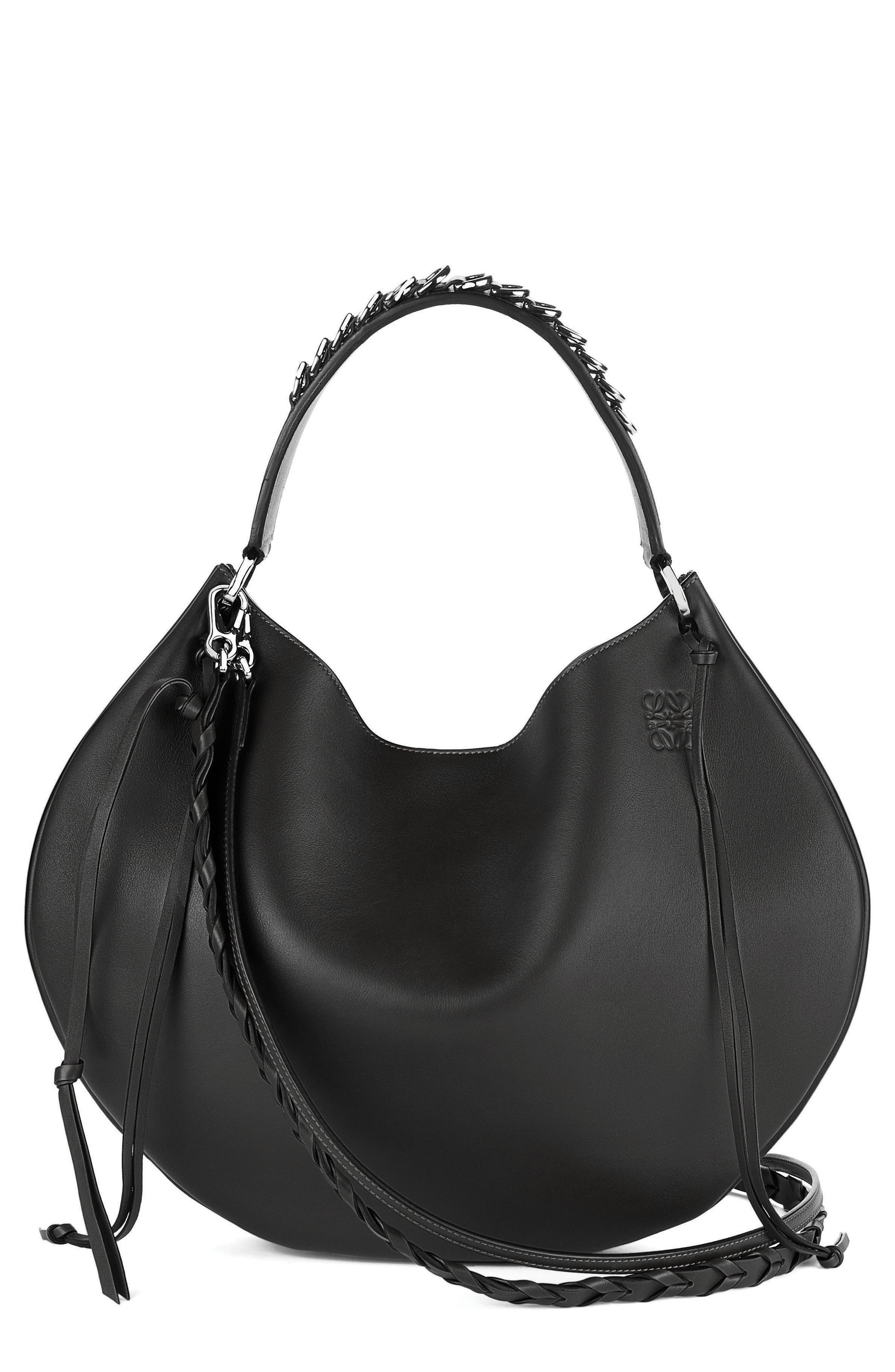 Fortune Leather Hobo,                             Main thumbnail 1, color,                             001