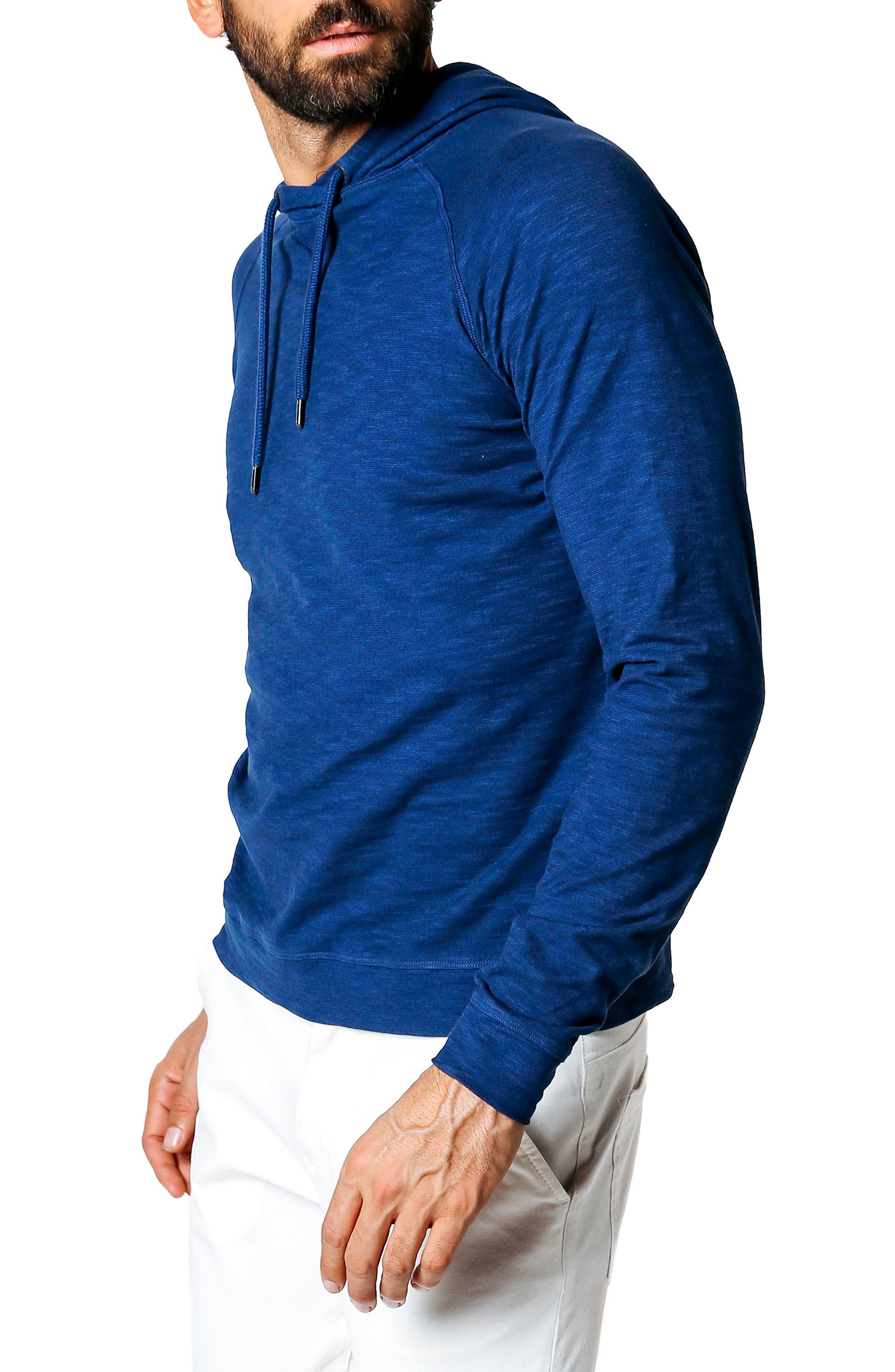 Trim Fit Pullover Hoodie,                             Alternate thumbnail 3, color,                             100