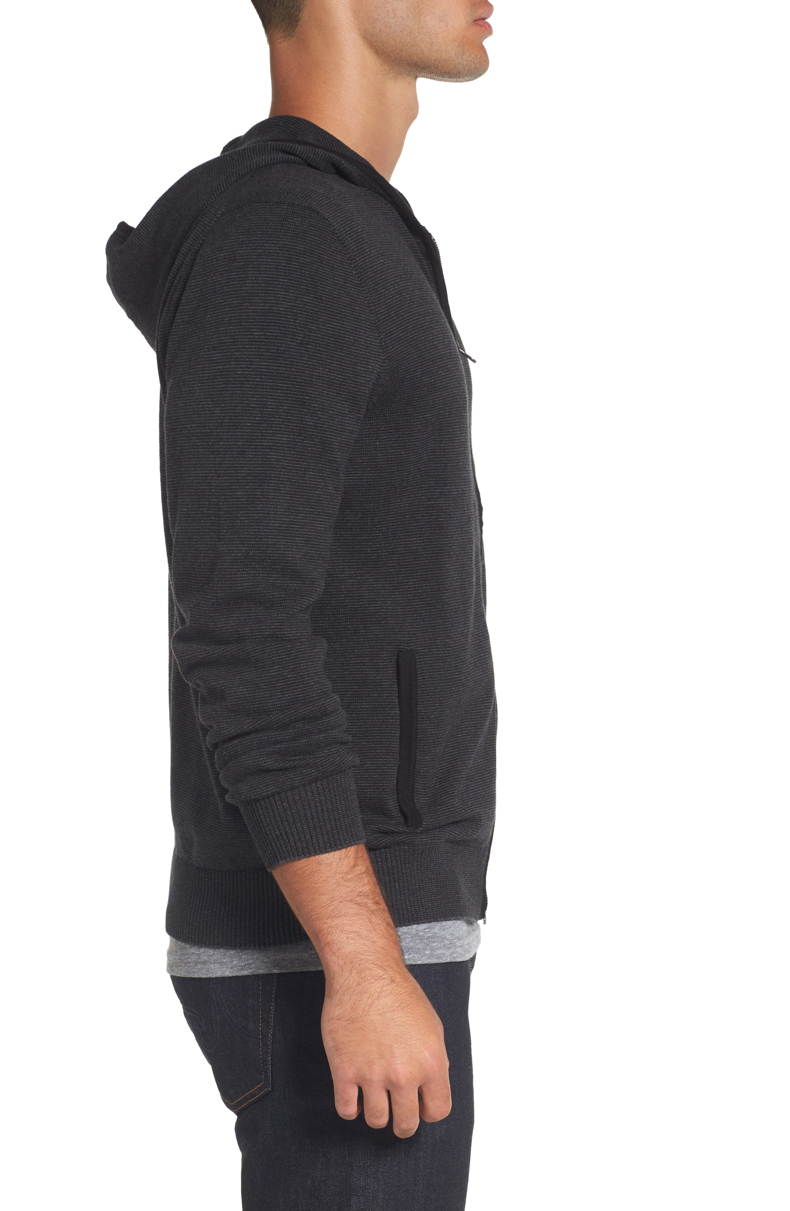 Zip Front Hooded Sweater,                             Alternate thumbnail 7, color,