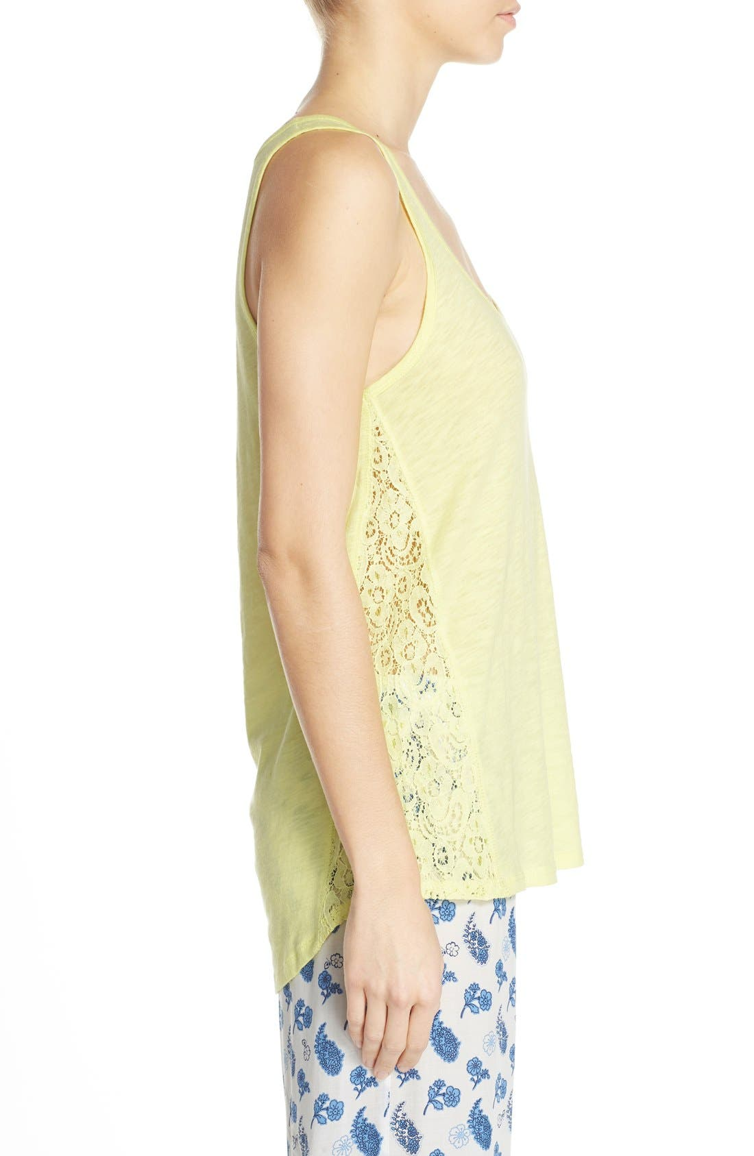 Lace Inset Jersey Tank,                             Alternate thumbnail 6, color,                             325