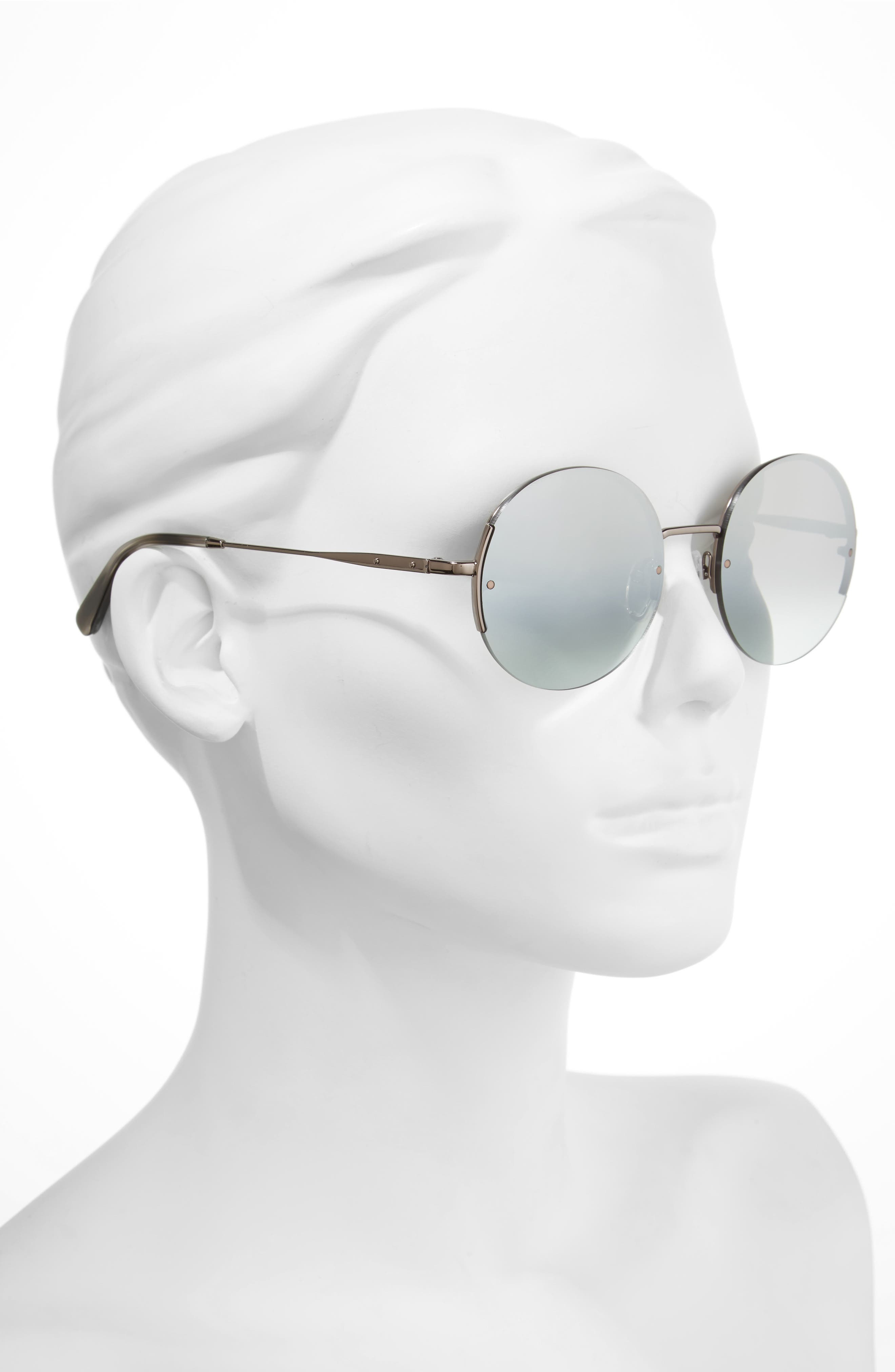 55mm Round Sunglasses,                             Alternate thumbnail 2, color,                             040