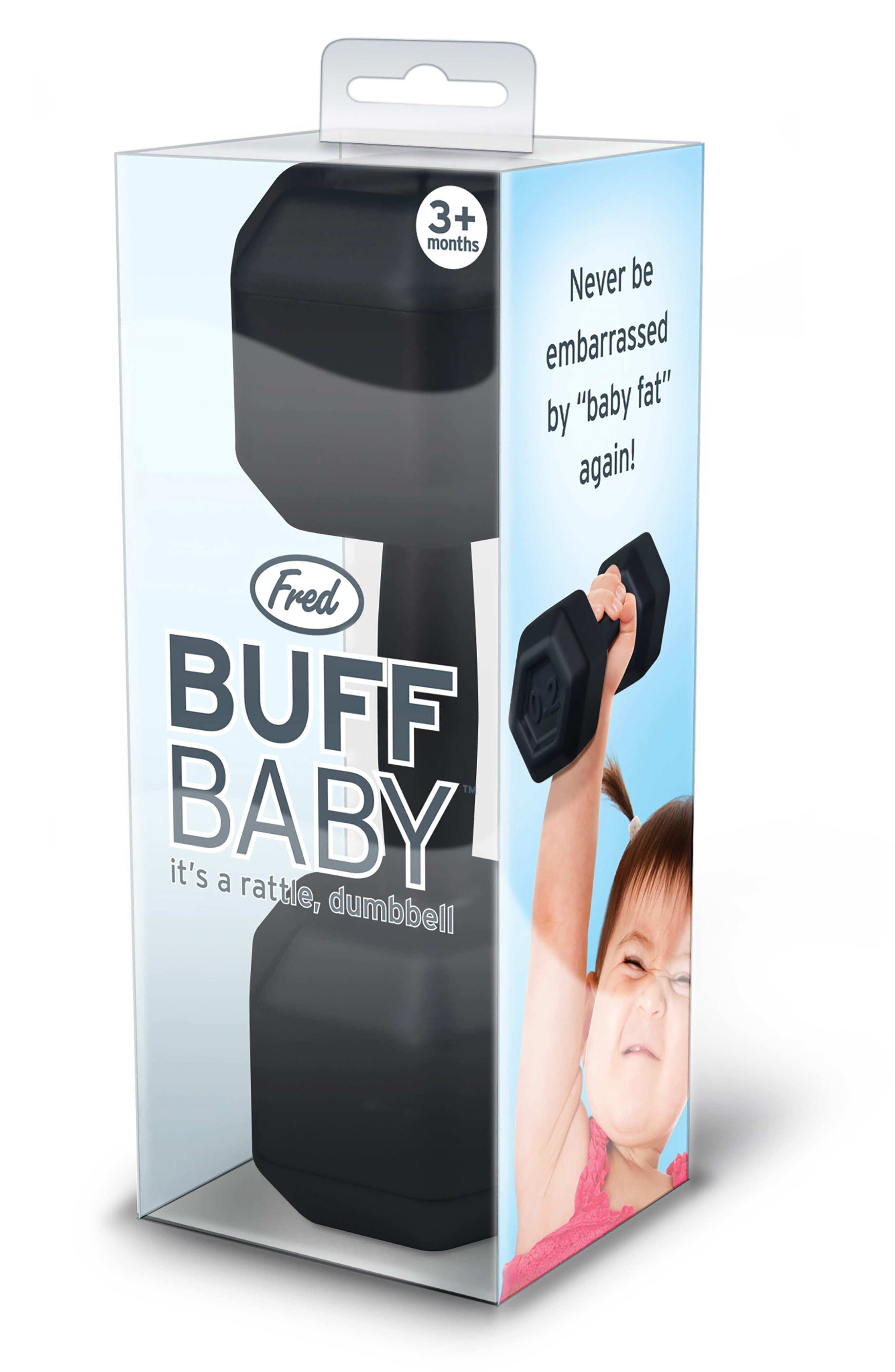 Buff Baby Rattle & Chill Baby Pacifier,                             Alternate thumbnail 4, color,                             001