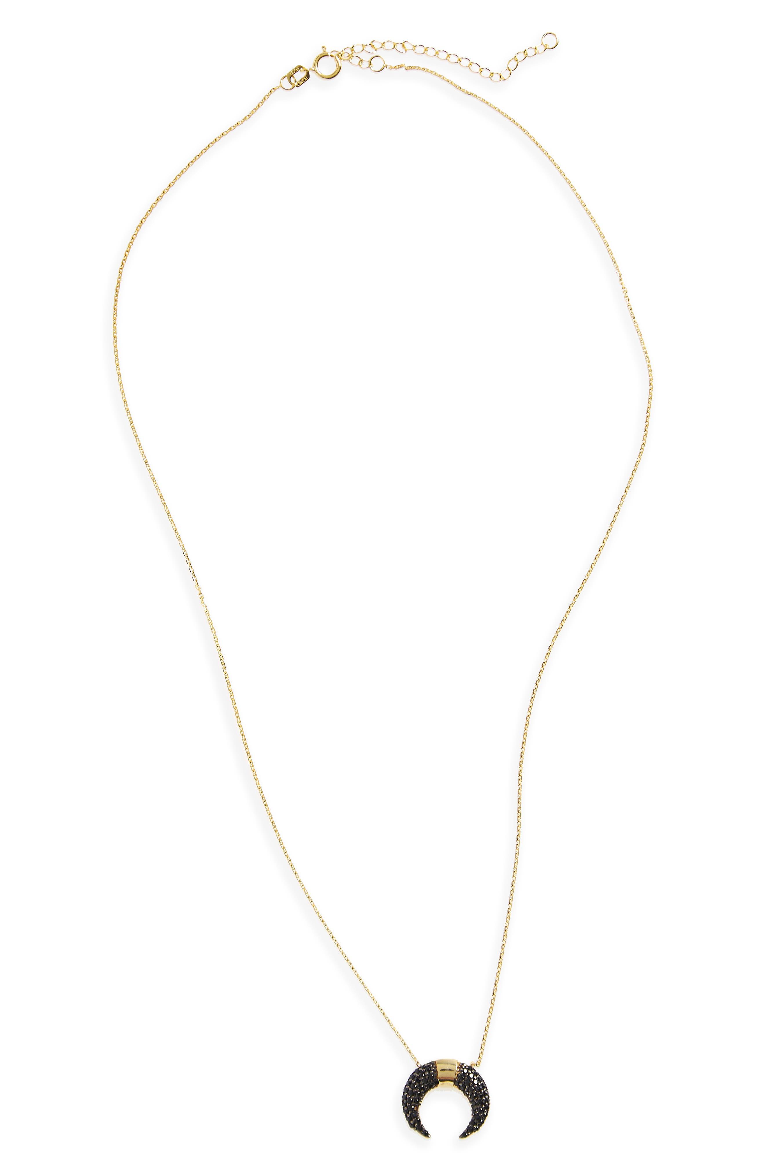 Crescent Pendant Necklace,                         Main,                         color, 710