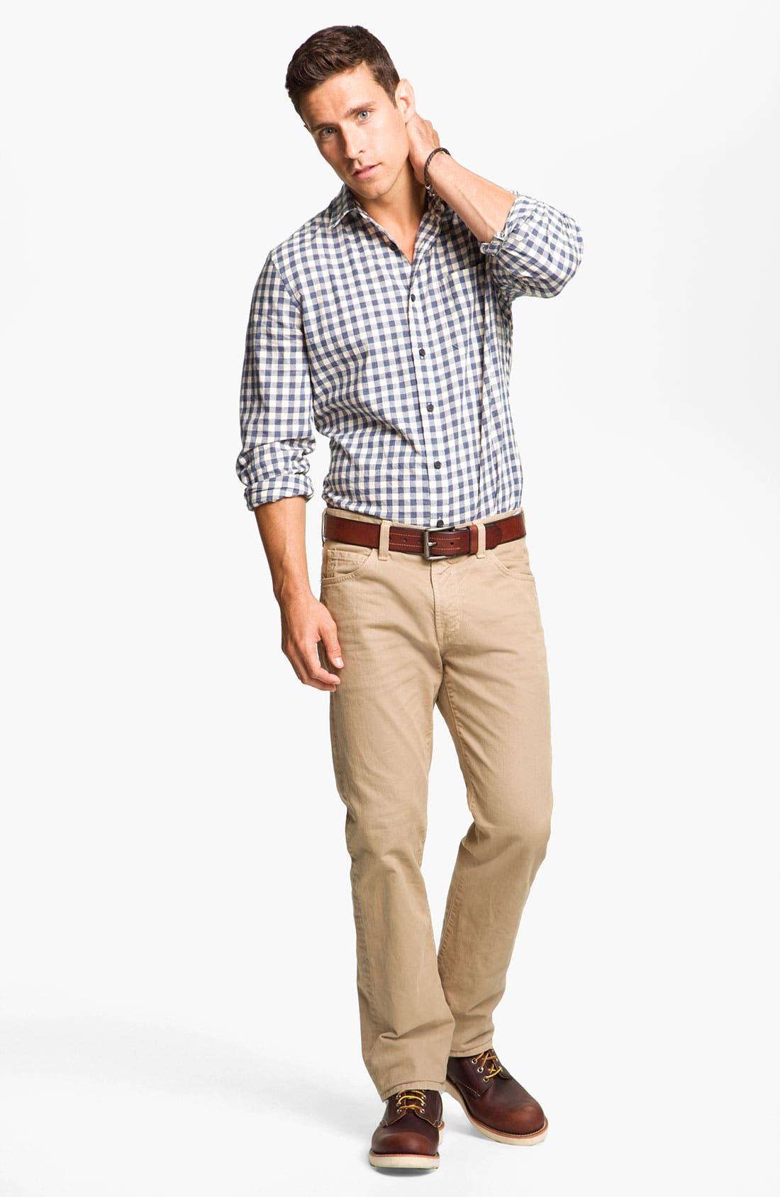 ,                             Wallin & Bros. Sport Shirt & Paige Slim Straight Leg Pants,                             Alternate thumbnail 2, color,                             400