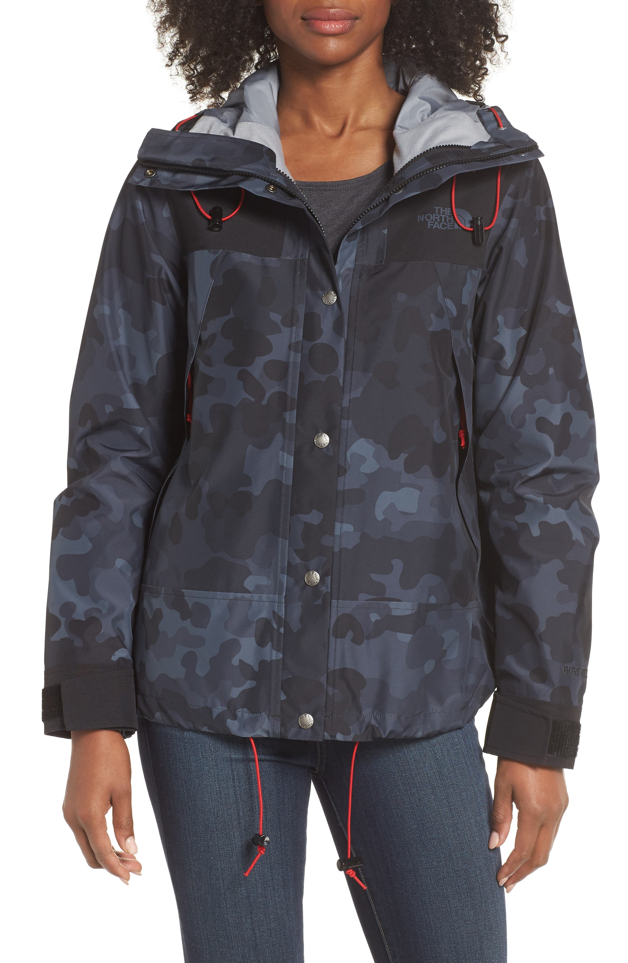 1990 Mountain Gore-Tex<sup>®</sup> Waterproof Jacket,                             Main thumbnail 1, color,                             TNF BLACK MACROFLECK PRINT