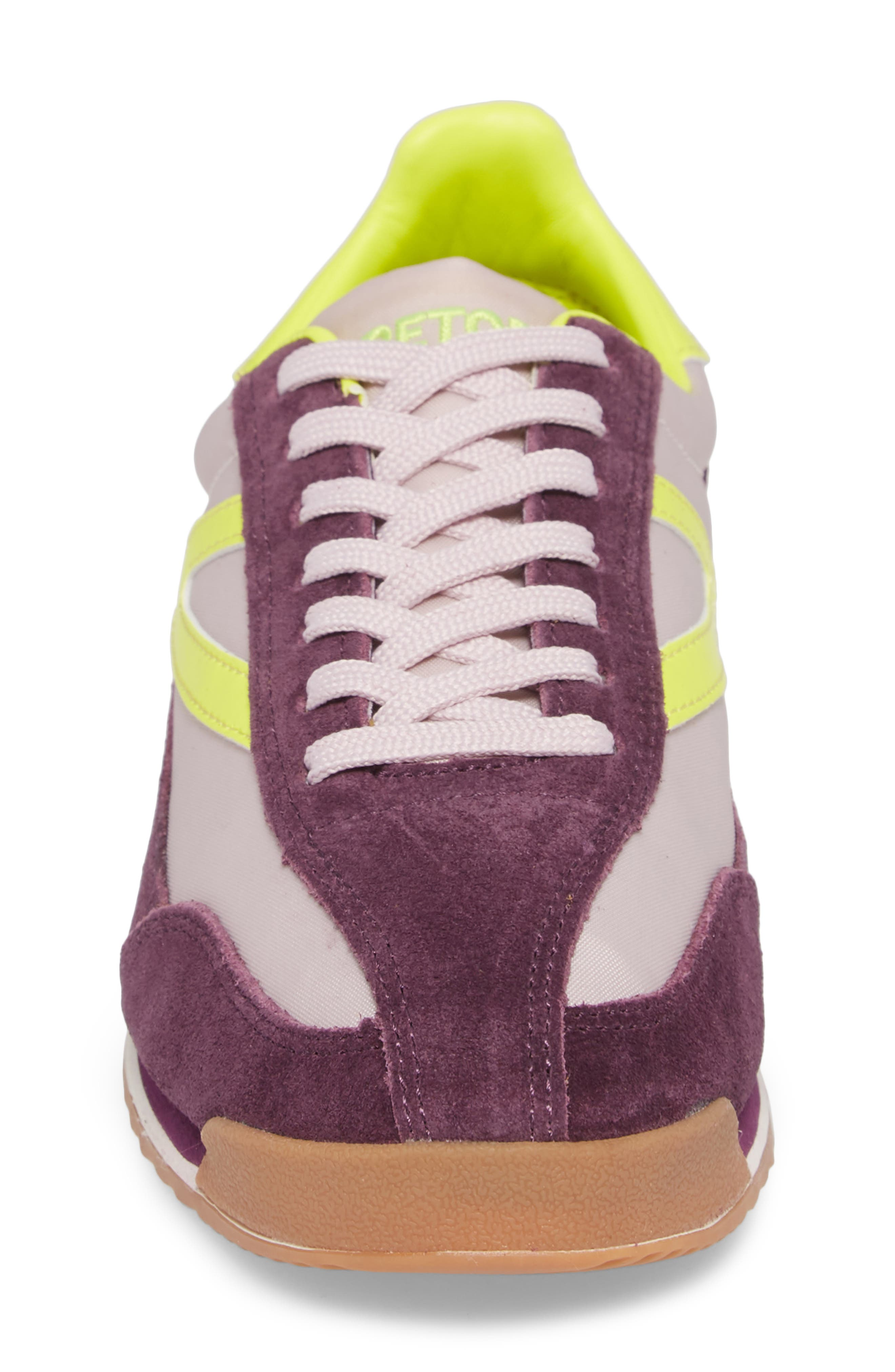 Rawlins 2 Sneaker,                             Alternate thumbnail 4, color,                             EGGPLANT/ SUMMER LILAC/ YELLOW