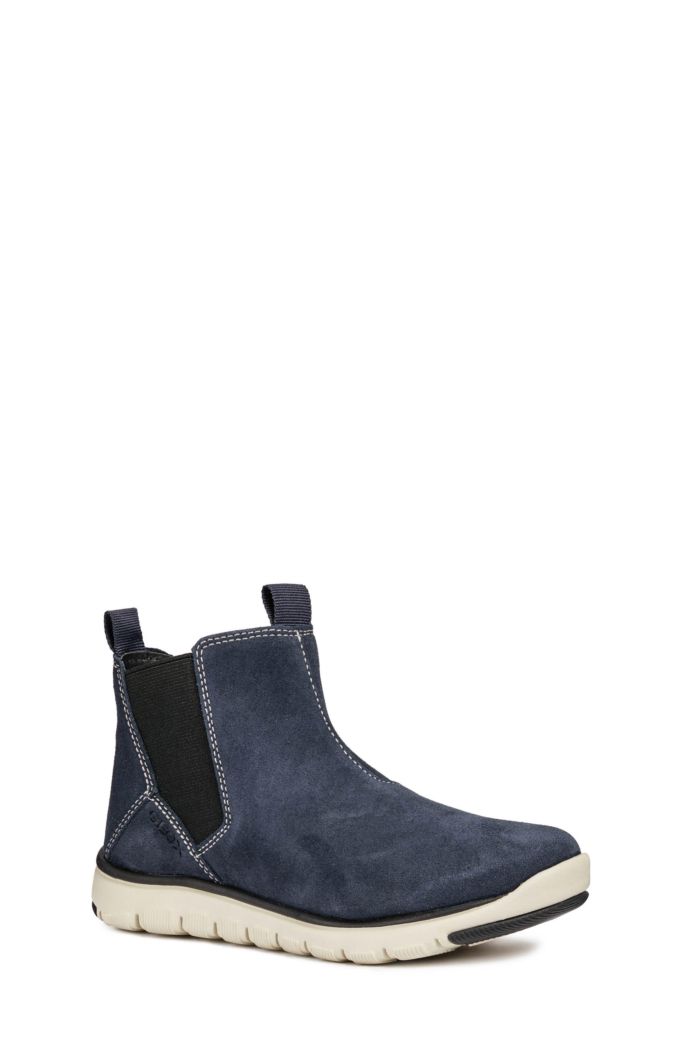 boy's geox xunday boot, size 13us / 31eu - blue