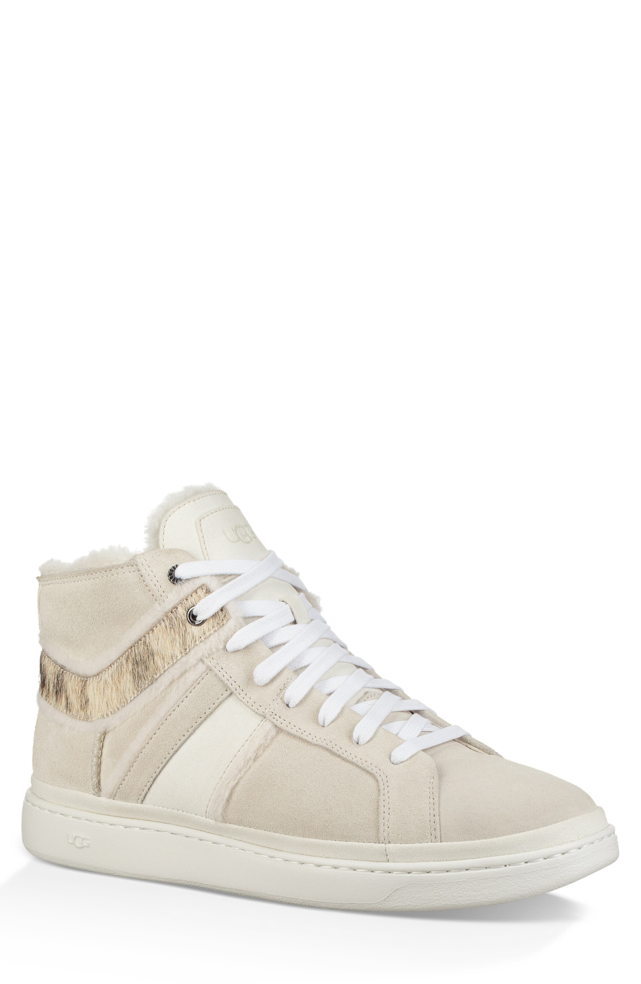 Cali High Top Sneaker,                         Main,                         color, WHITE
