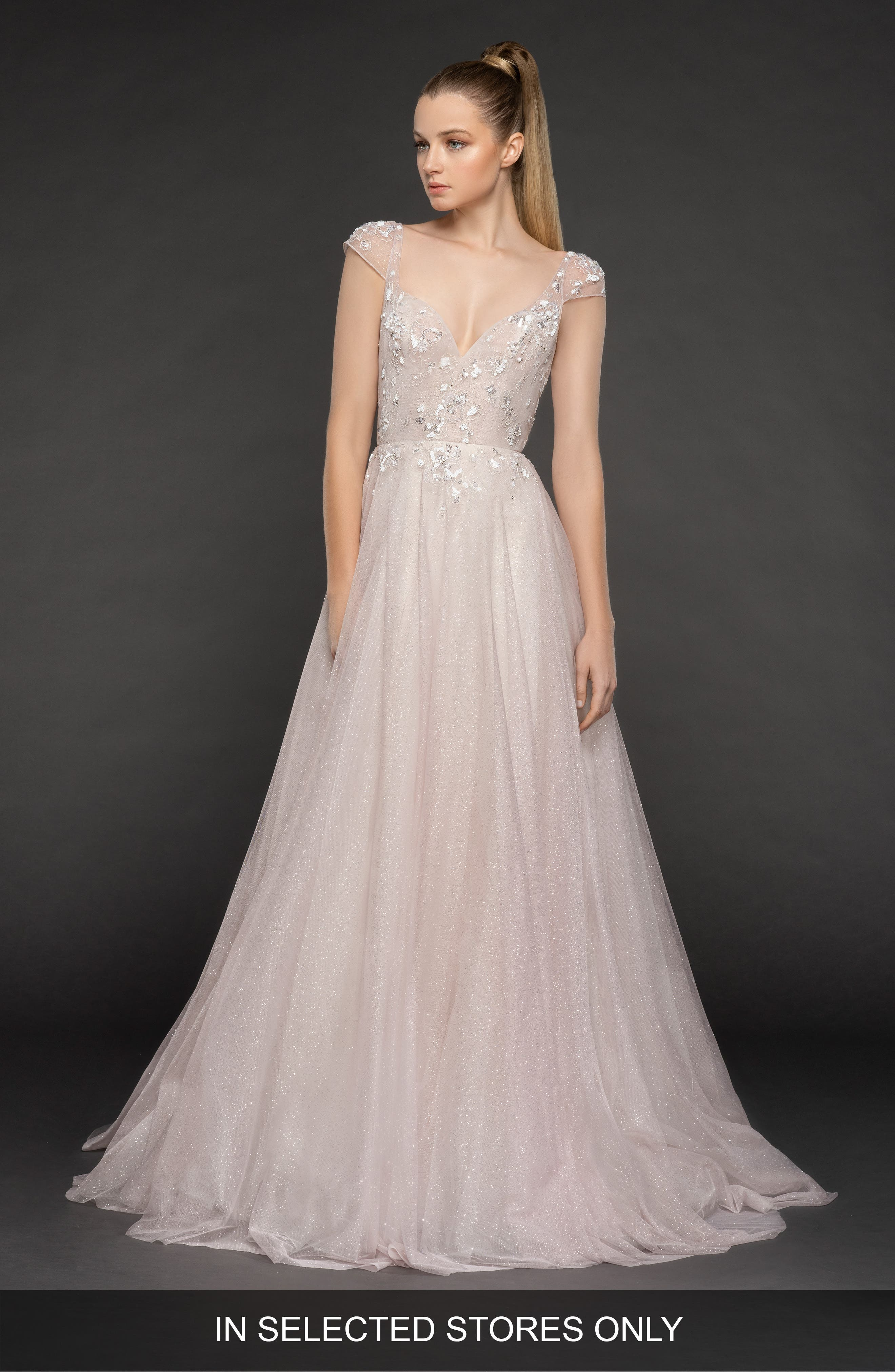 Blush By Hayley Paige Amour Tulle A-Line Gown, Size IN STORE ONLY - Pink