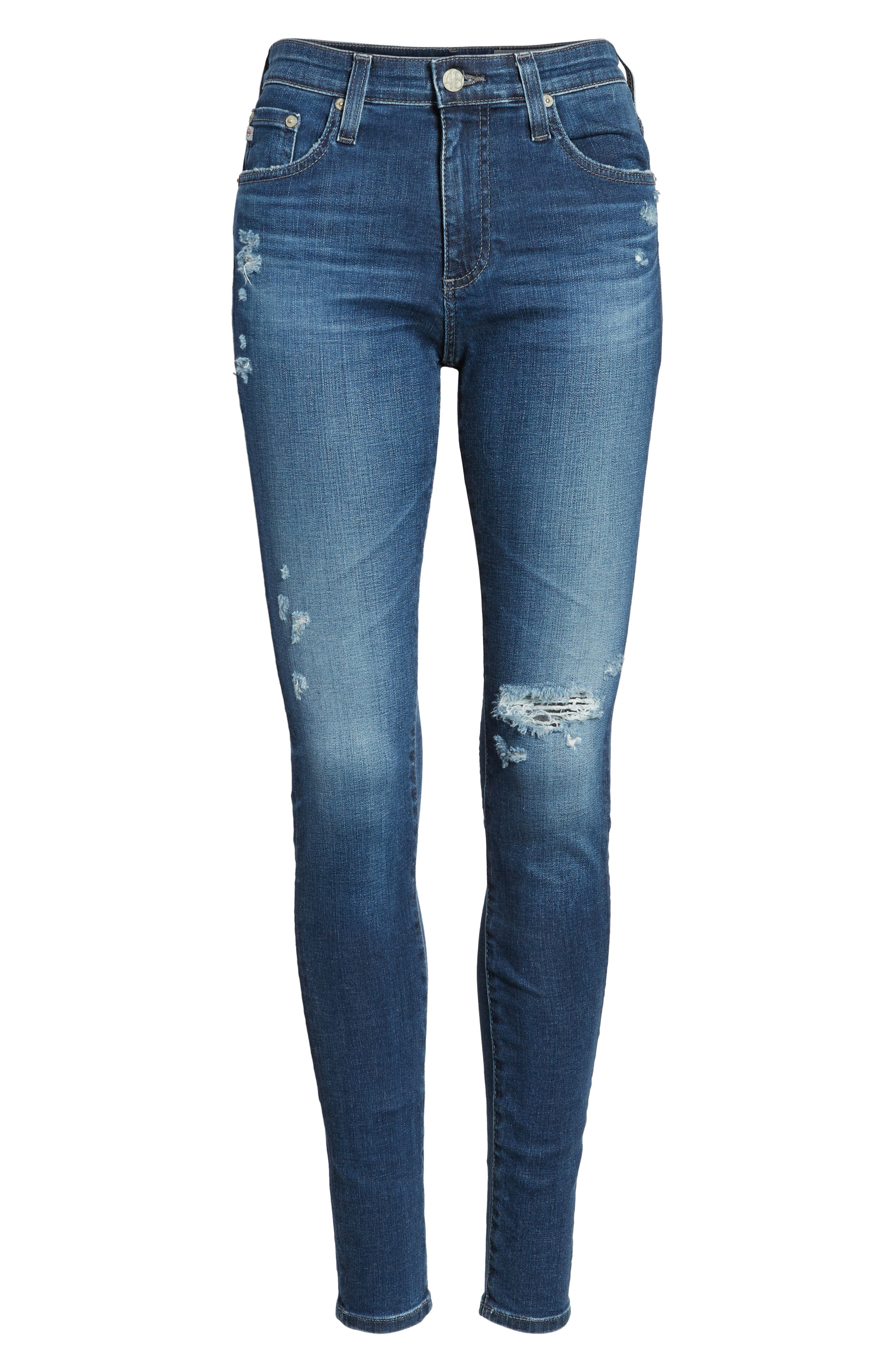 'The Farrah' High Rise Skinny Jeans,                             Alternate thumbnail 50, color,