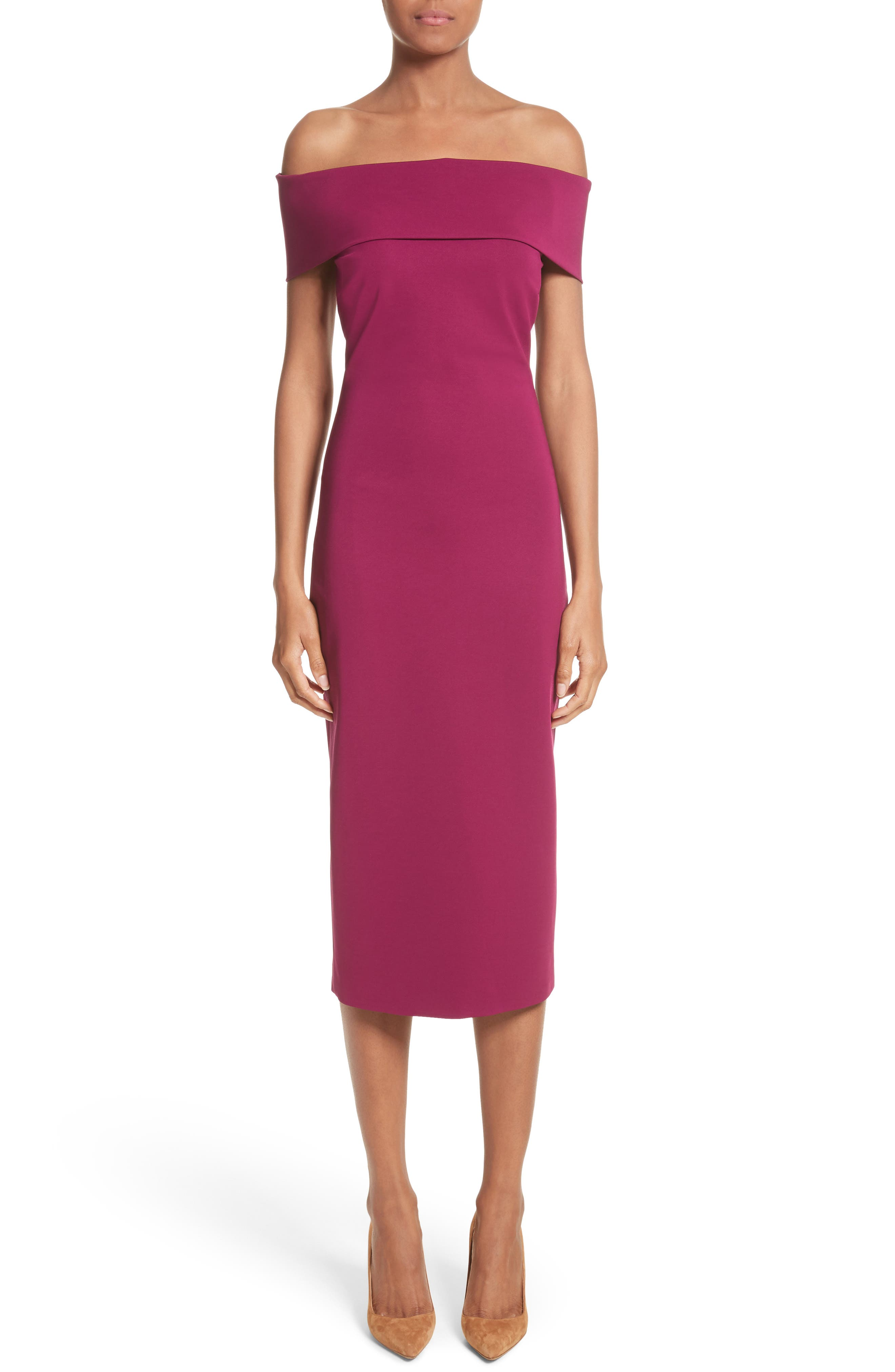 Off the Shoulder Pencil Dress,                         Main,                         color, 543