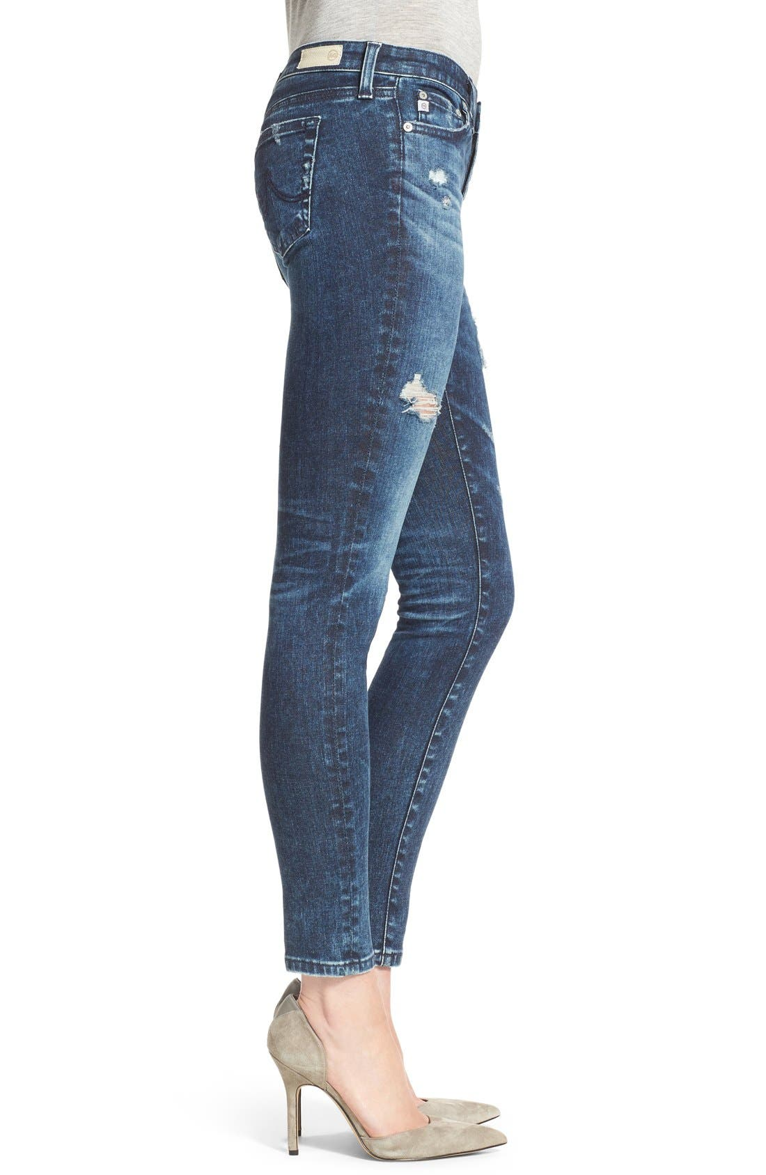 'The Legging' Ankle Super Skinny Jeans,                             Alternate thumbnail 11, color,