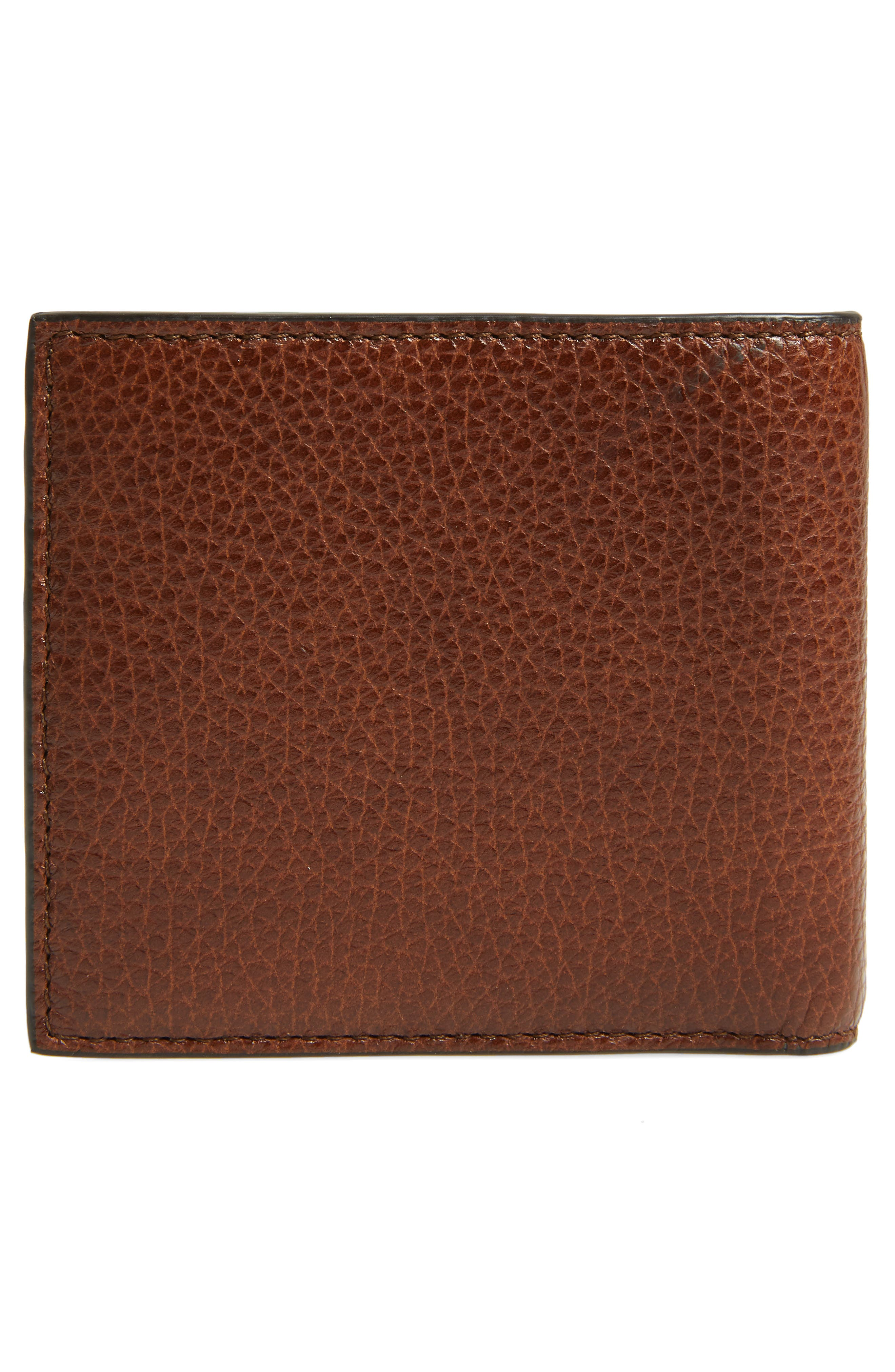 Traveller Leather Wallet,                             Alternate thumbnail 3, color,                             MEDIUM BROWN